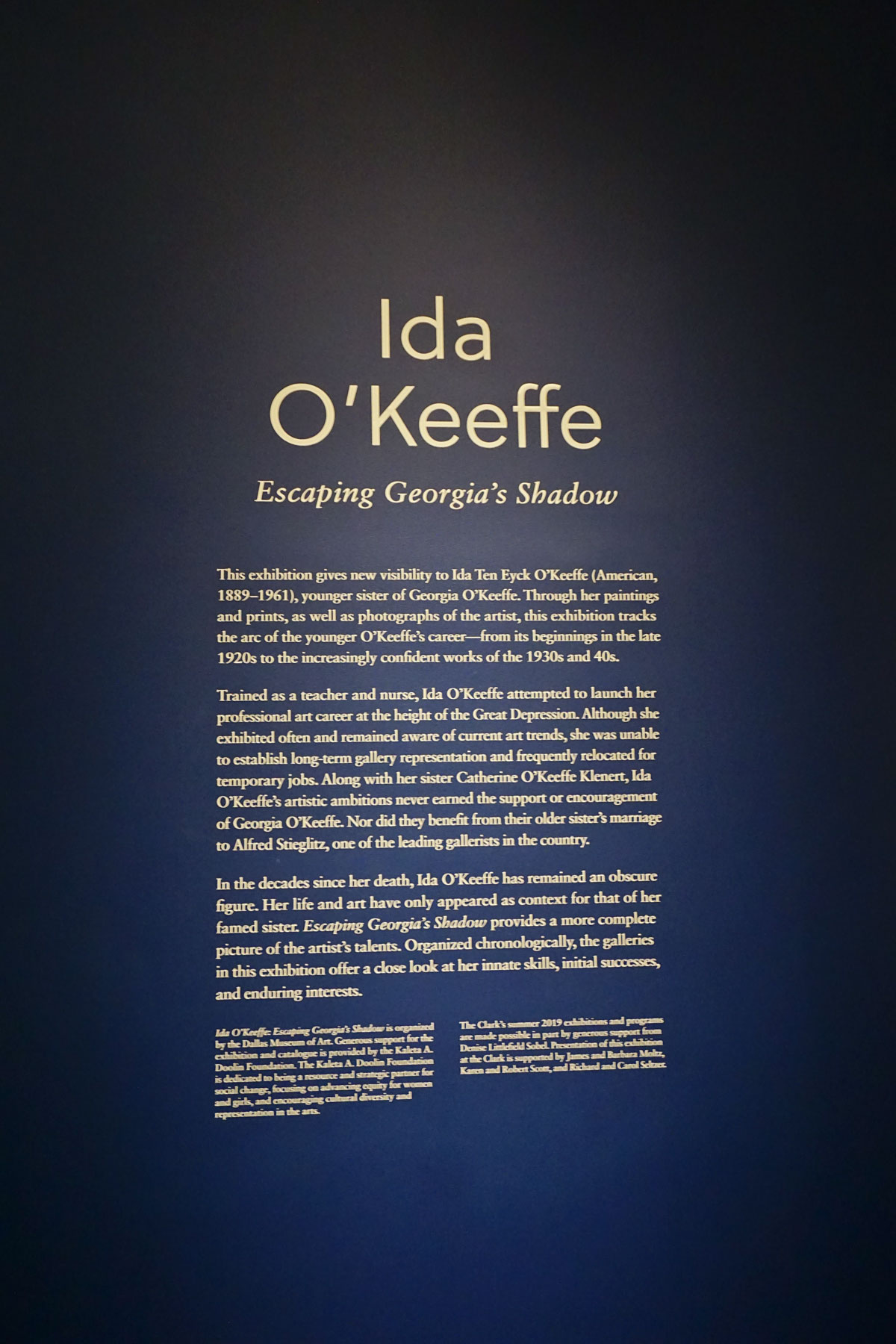 © 2019 Louise Levergneux.  Ida O'Keeffe: Escaping Georgia's Shadow  at The Clark.
