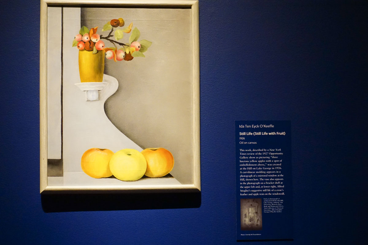 © 2019 Louise Levergneux. Still life with Fruit, oil on canvas 1926 by Ida Ten Eyck O'Keeffe.