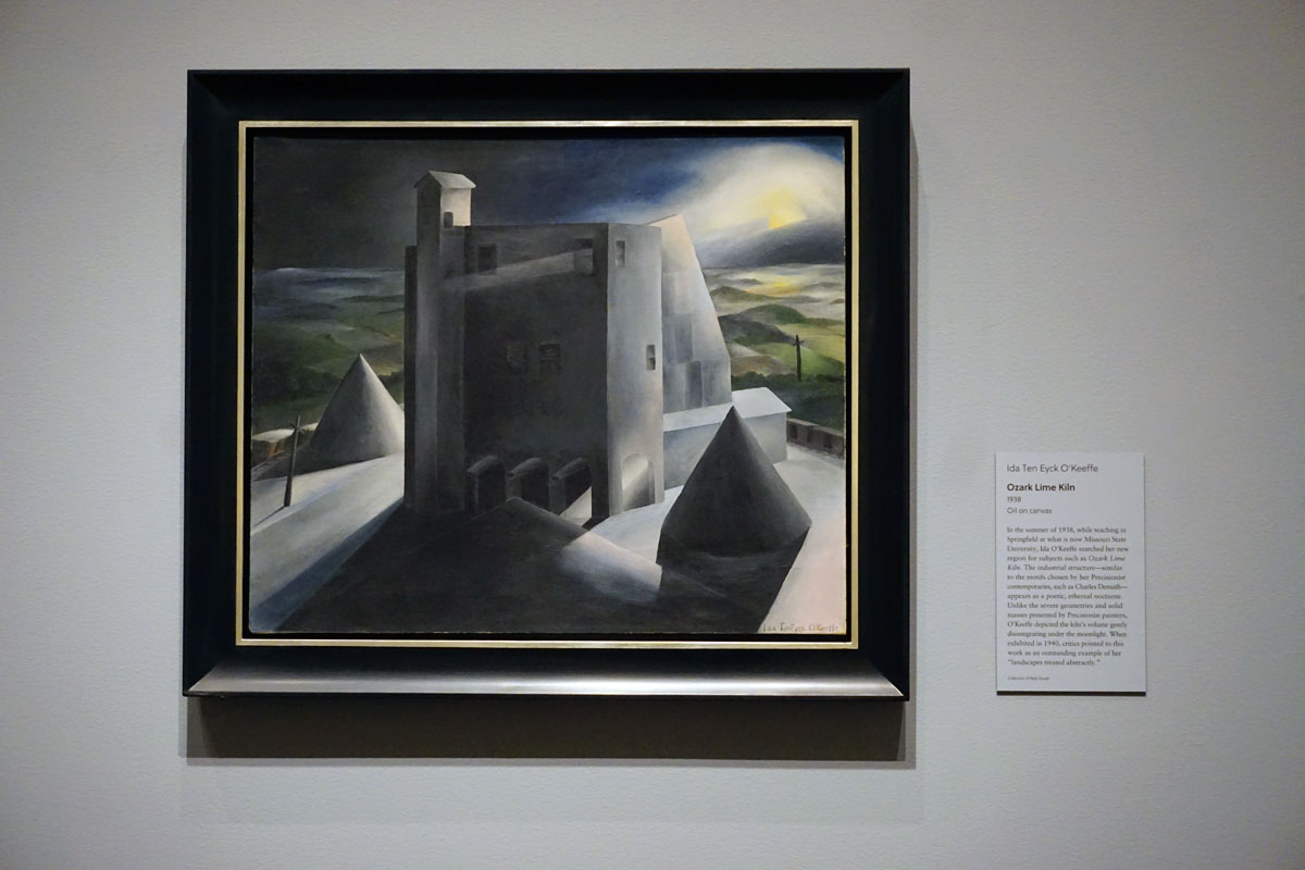 © 2019 Louise Levergneux. Ozark Lime Kiln, 1938, oil on canvas by Ida Ten Eyck O'Keeffe.
