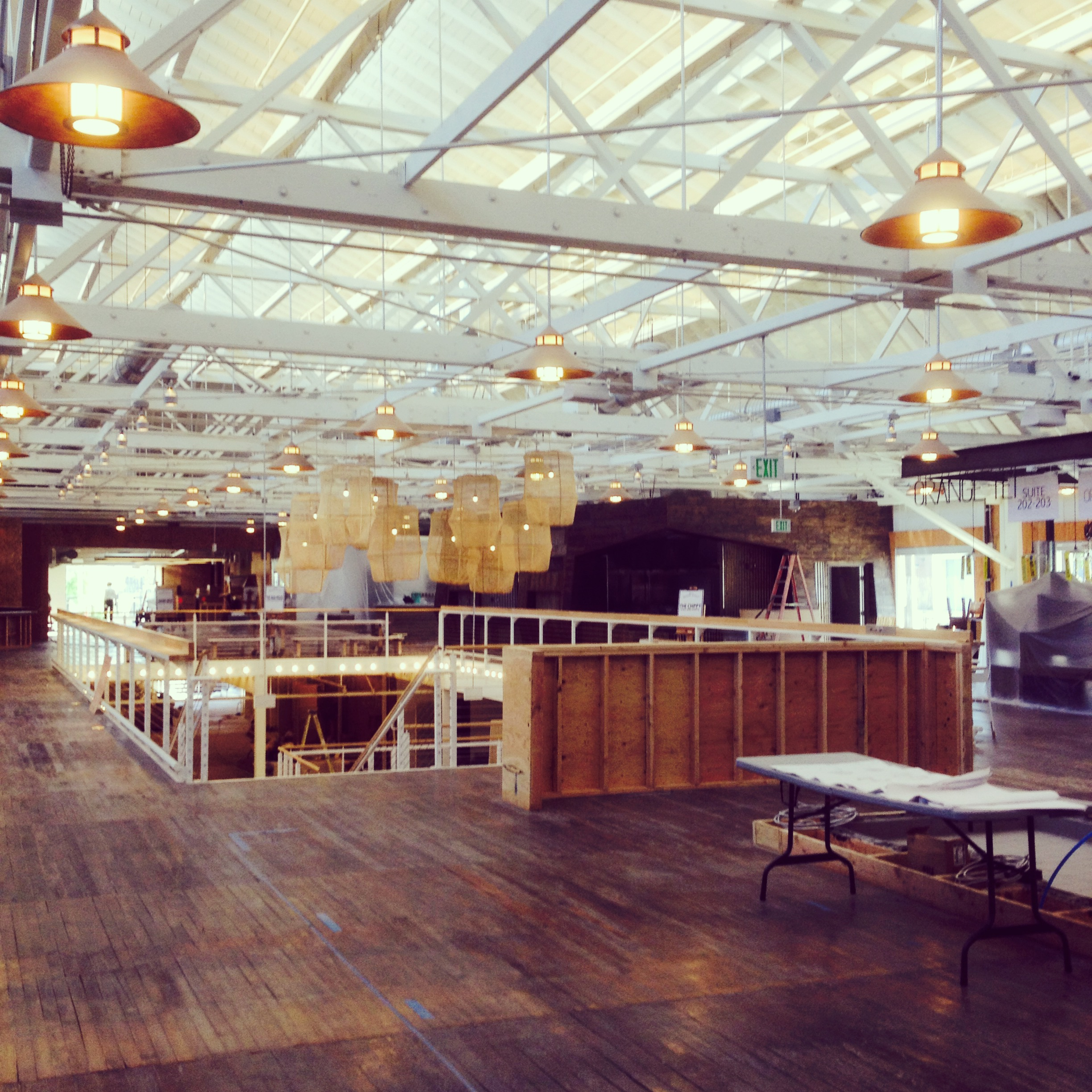 Inside The Packing House, before its May opening