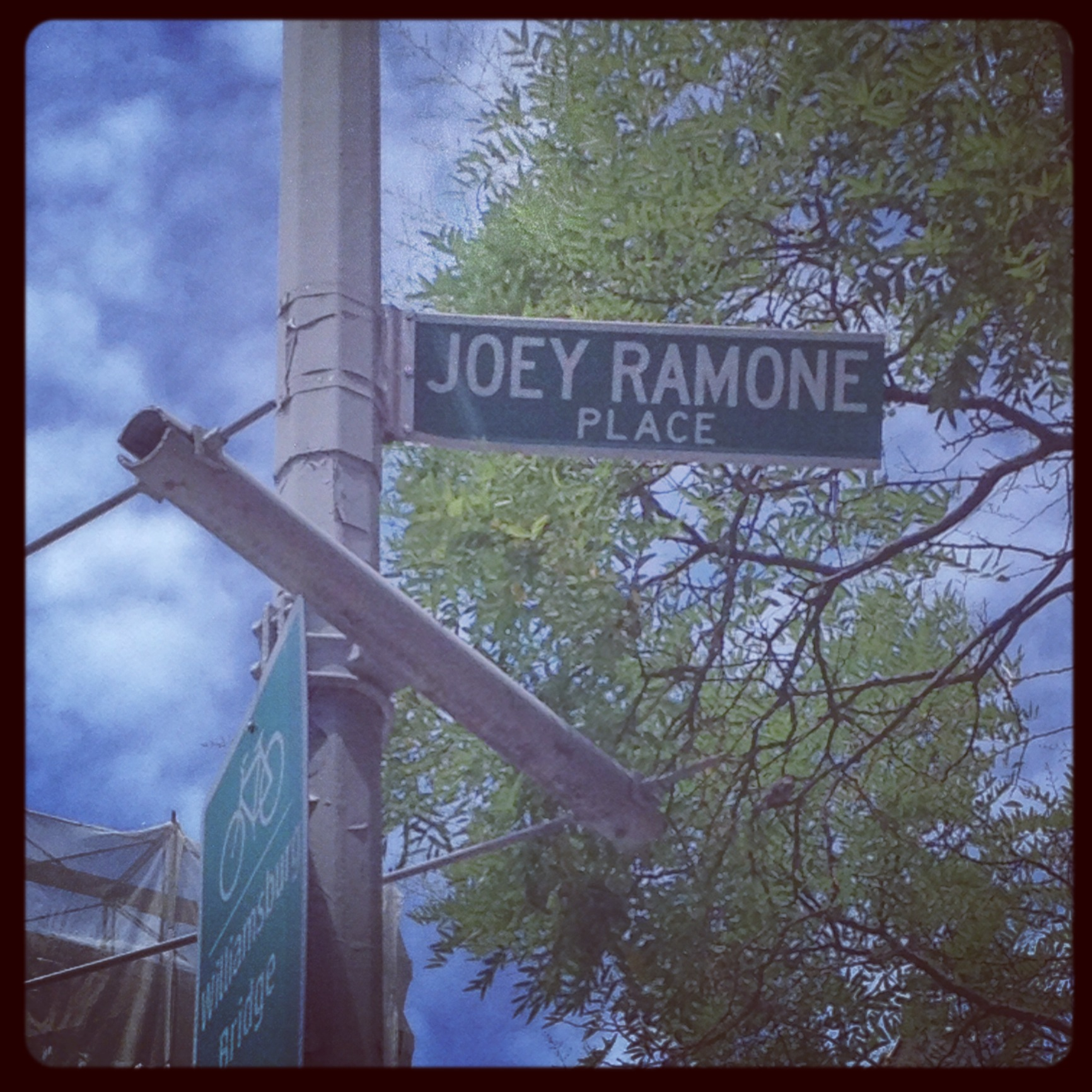 Joey Ramone Place was at one time the most-stolen street sign in NYC