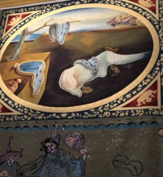 The Persistence of Memory wall tapestry, Dali museum.