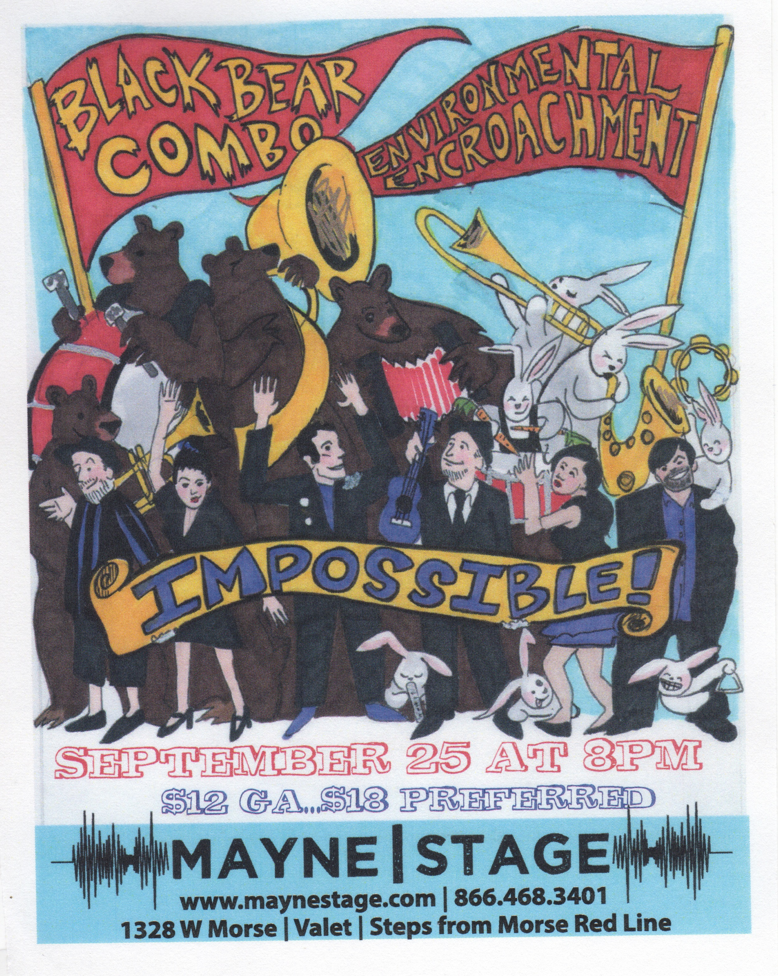 EE Gig Poster, September 2014. (Text by Mayne Stage Theater)