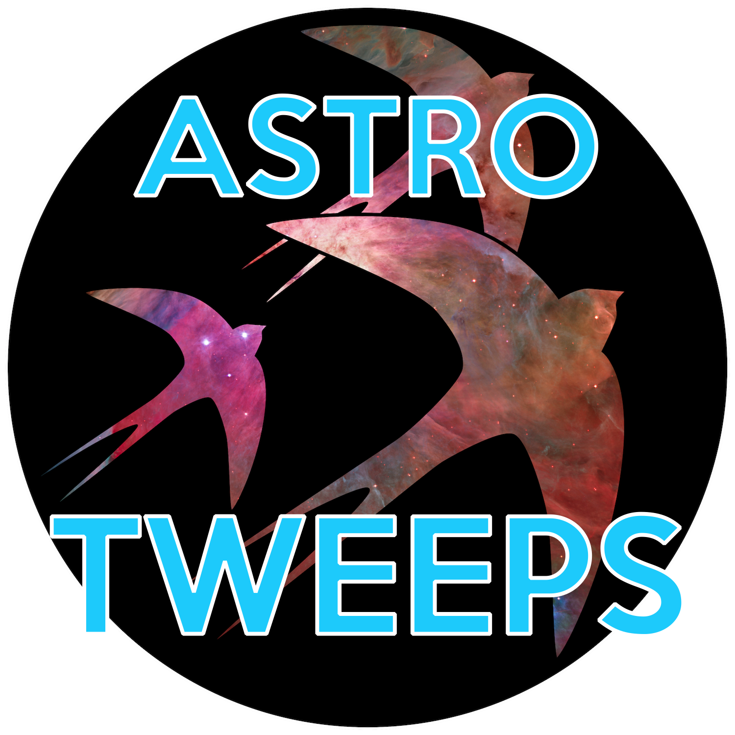 """Logo for  """"astrotweeps"""" 2014 AAS Hack Day project."""