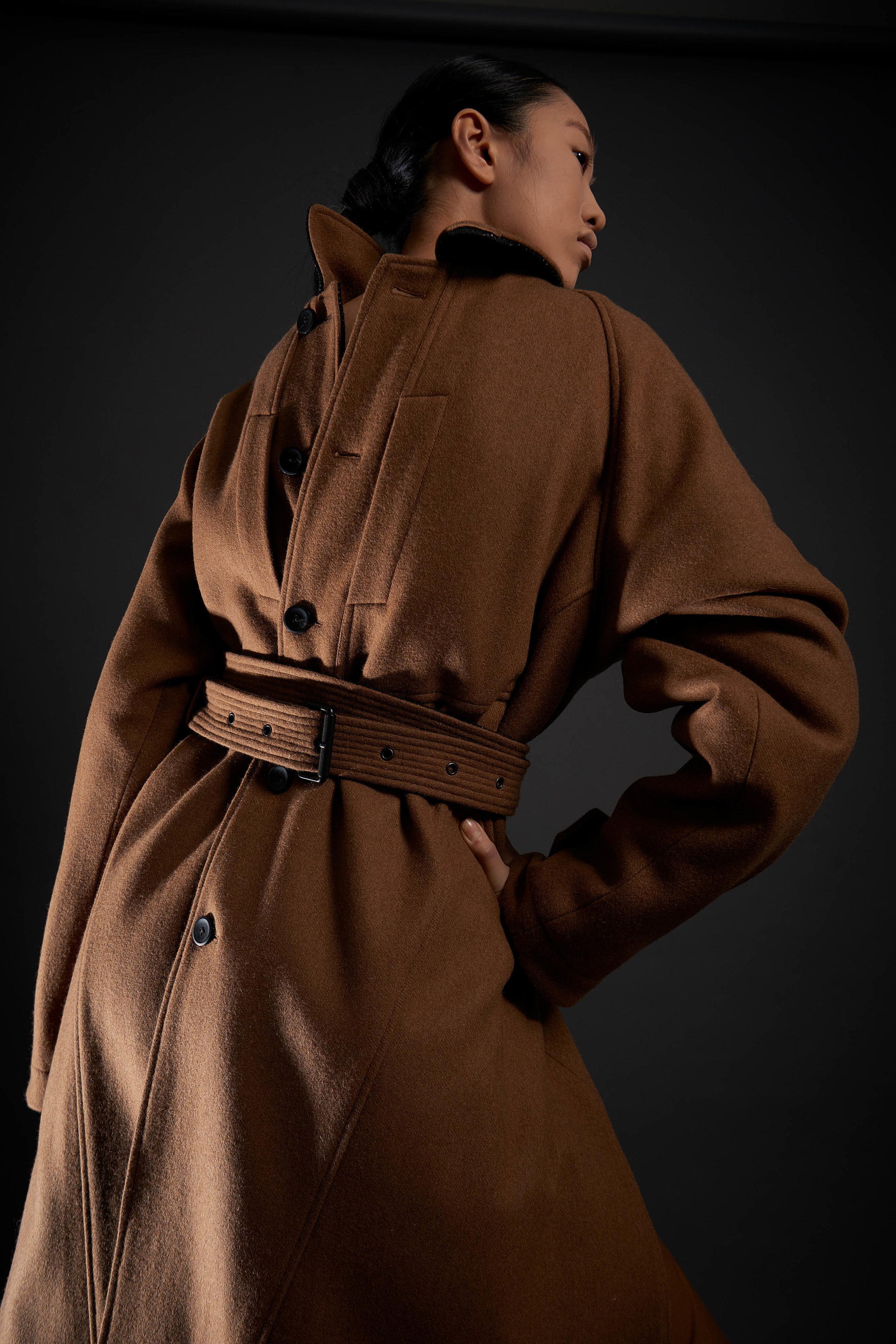 Look 3   ARC Overcoat  / Camel  .  .  .