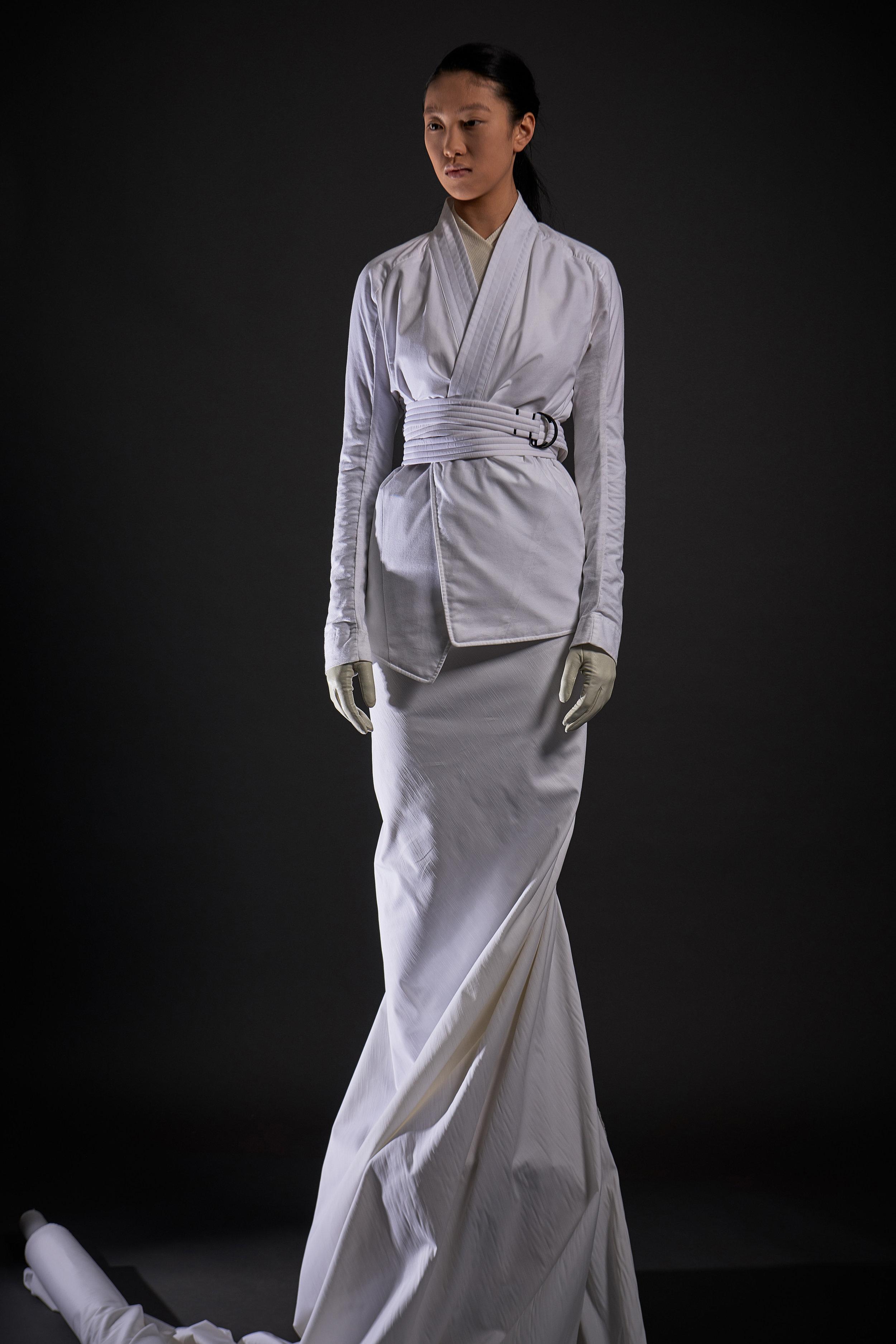 Look 7   ARC Kimono Shirt  / White   ARC Obi Belt  / White