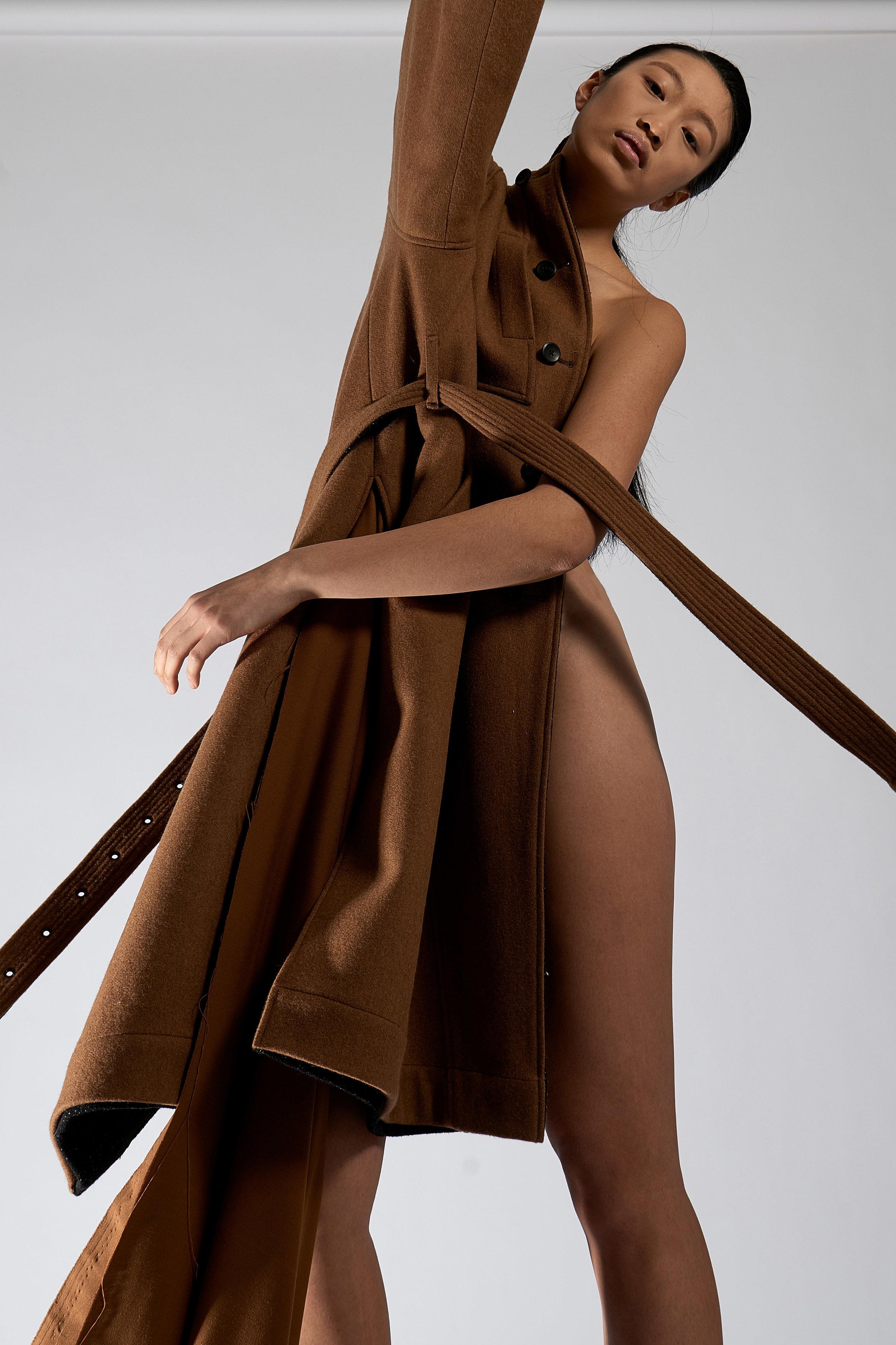 Look 11   ARC Overcoat  / Camel  .