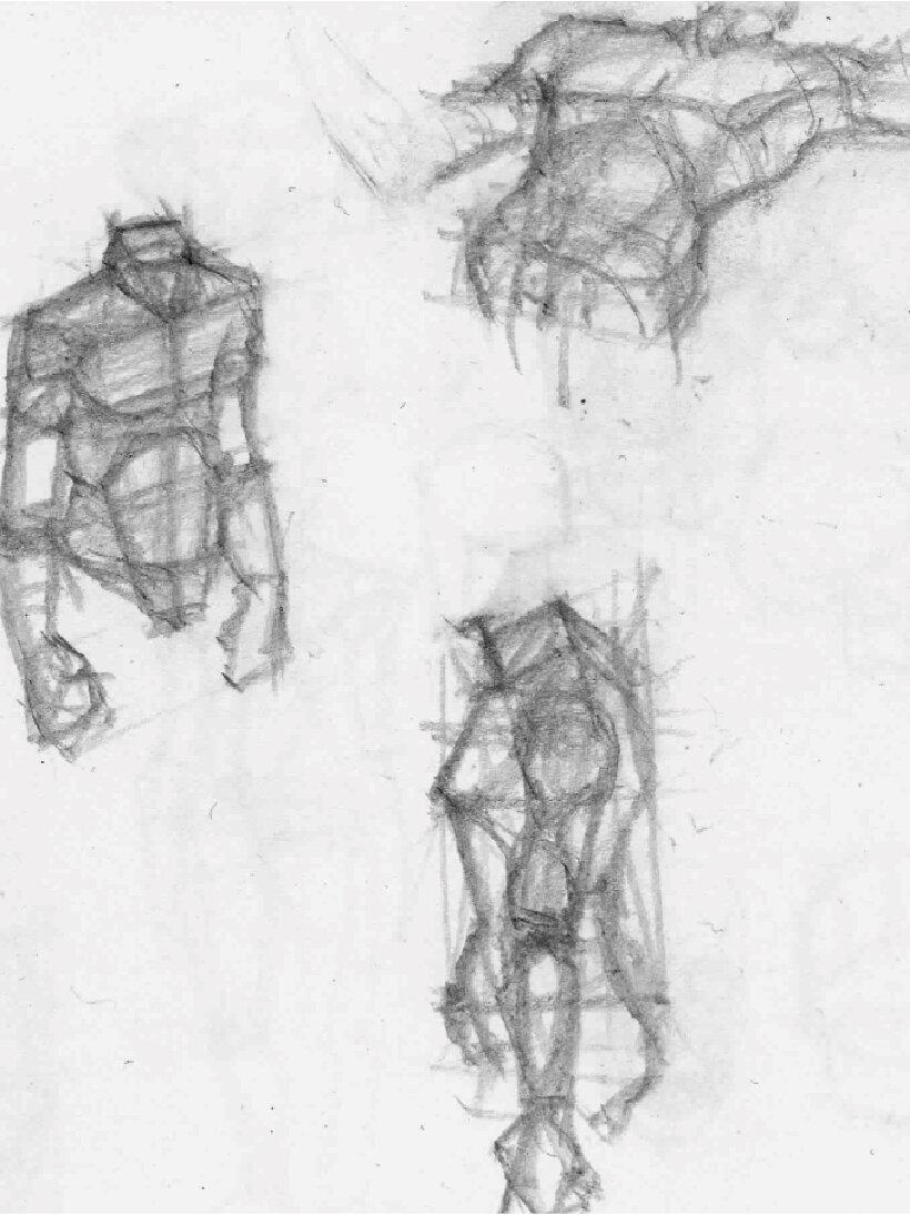 Anatomical sketches  by Abasi Rosborough, 2012