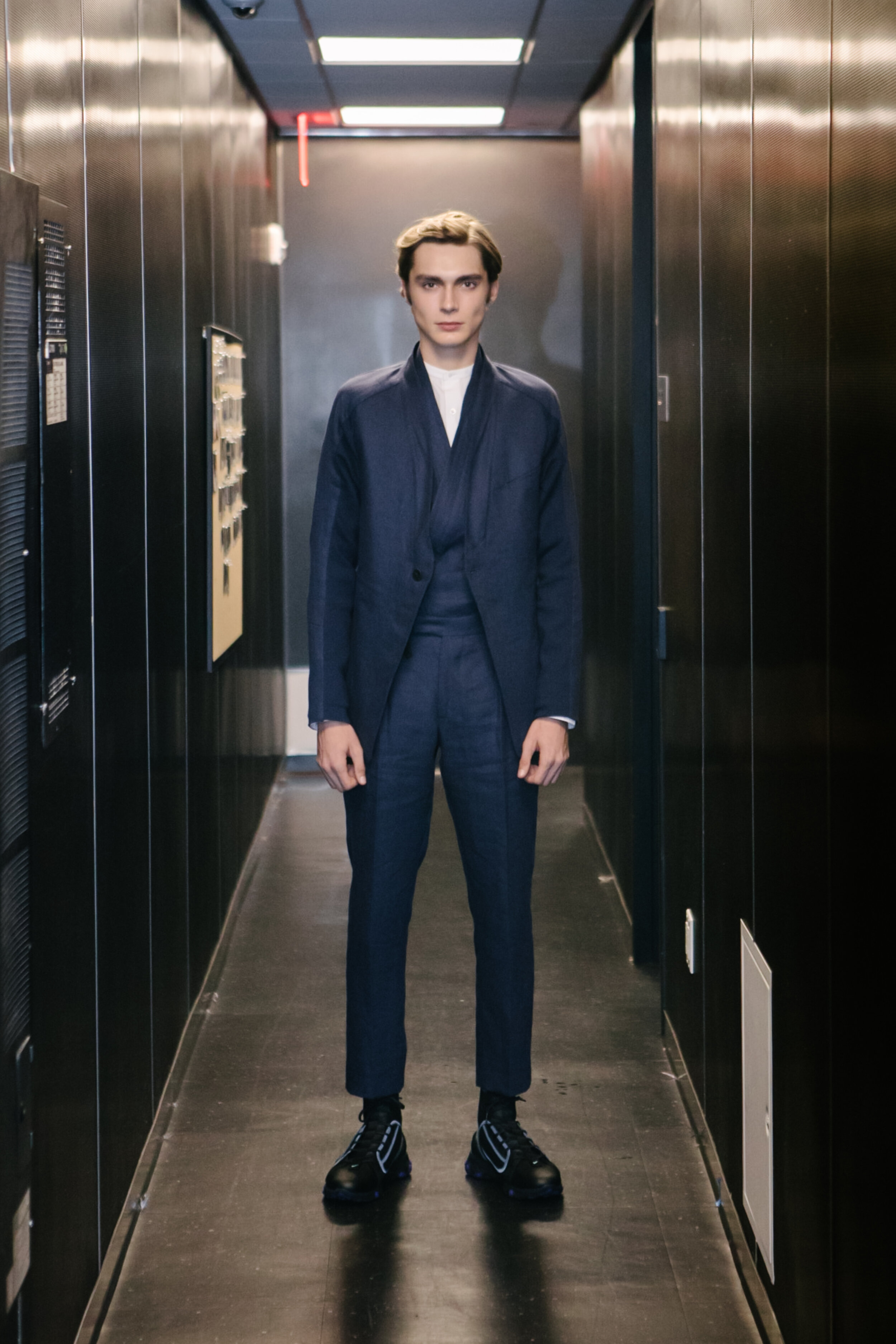 ARC Suit, 3-Piece, 2020   ARC Jacket, ARC Kimono Shirt, ARC Trouser    Available To Order Upon Request →