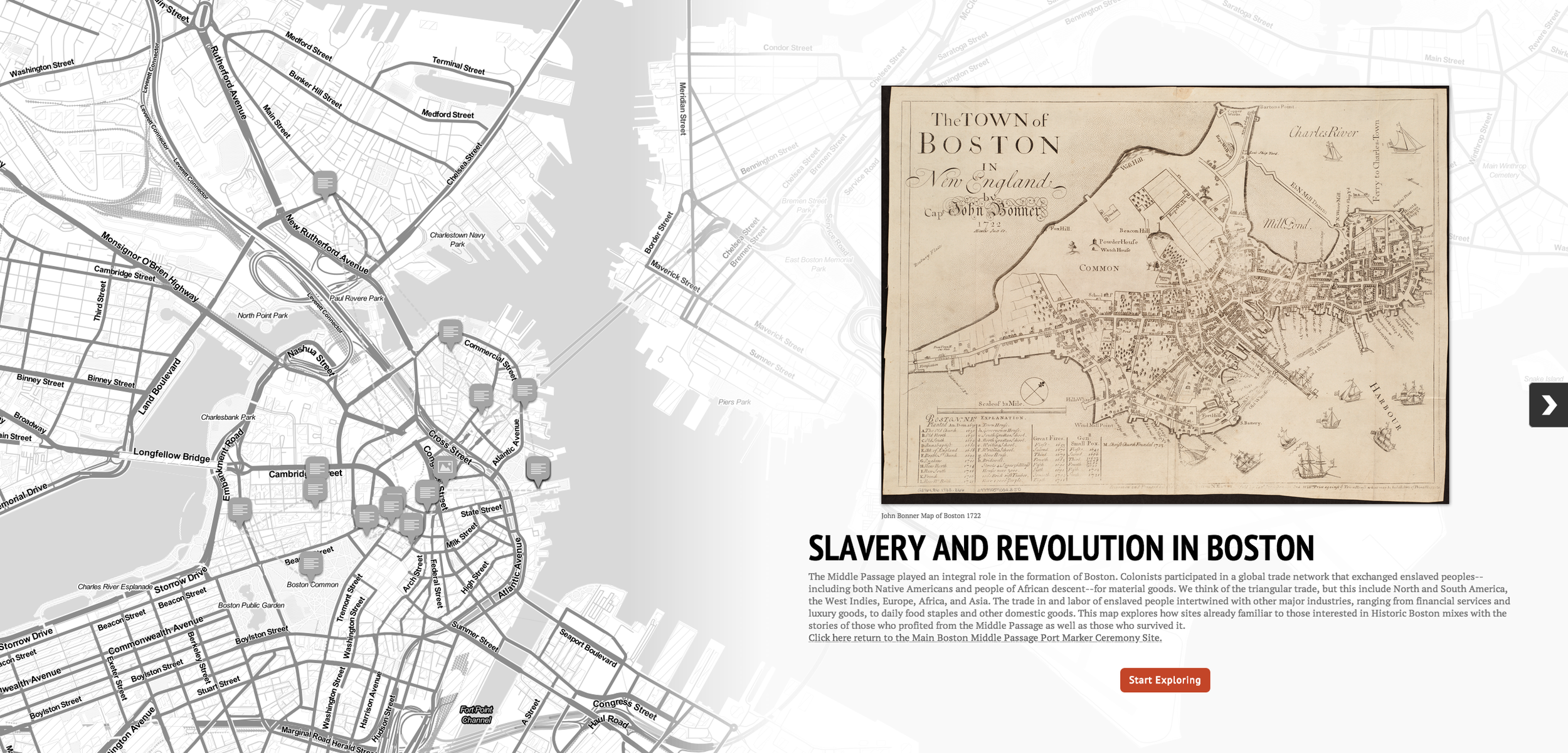 Boston Slavery Map