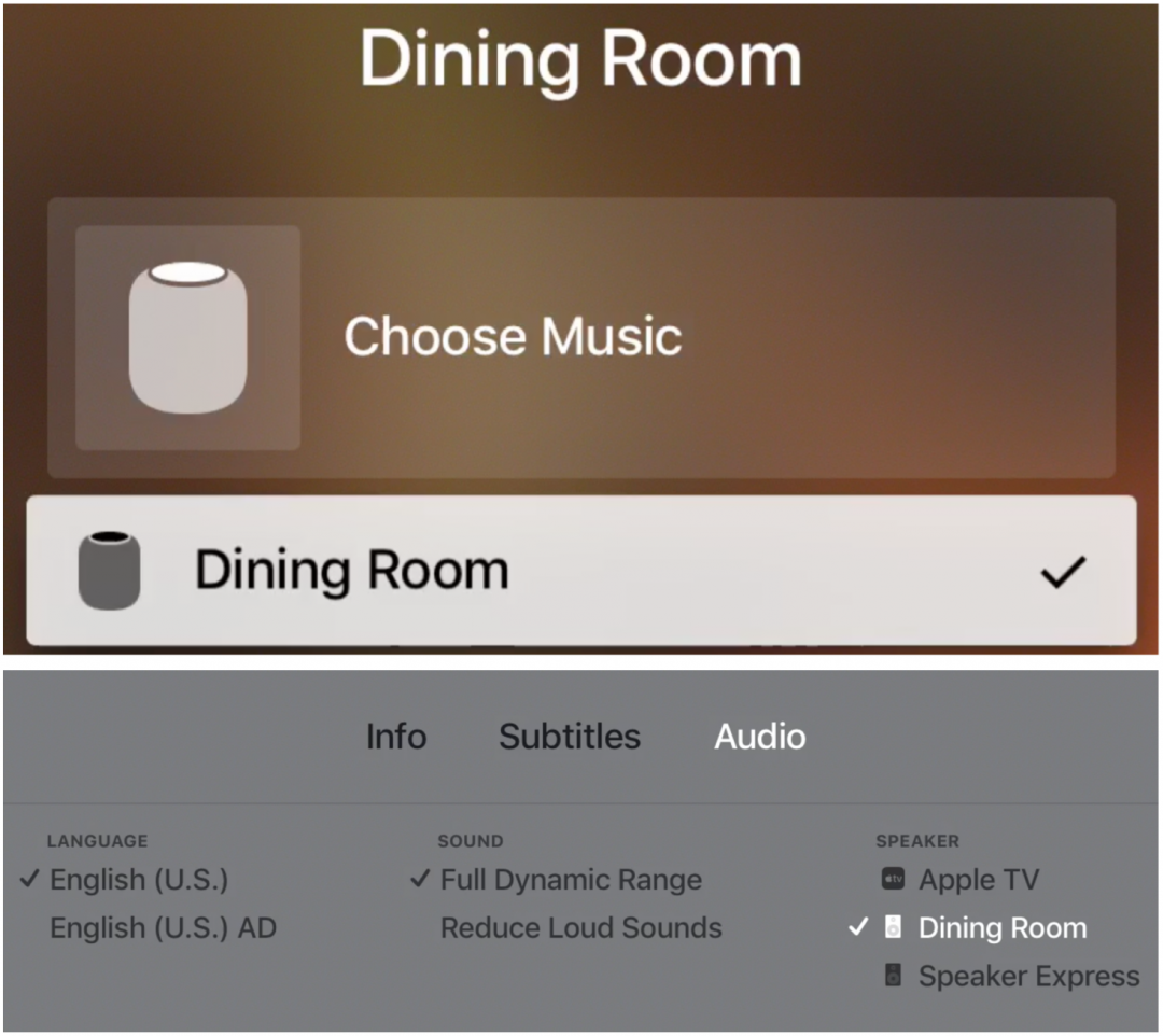 """Once you've transferred audio to the HomePod, you can use Hey Siri commands to pause and play the Apple TV content, change volume, and even rewind and fast-forward by a certain amount of time (""""Hey Siri, rewind 10 seconds""""). However, other things that Siri on the Apple TV can do, like tell you who stars in a movie, work only when you press and hold the Siri button on the Siri Remote."""