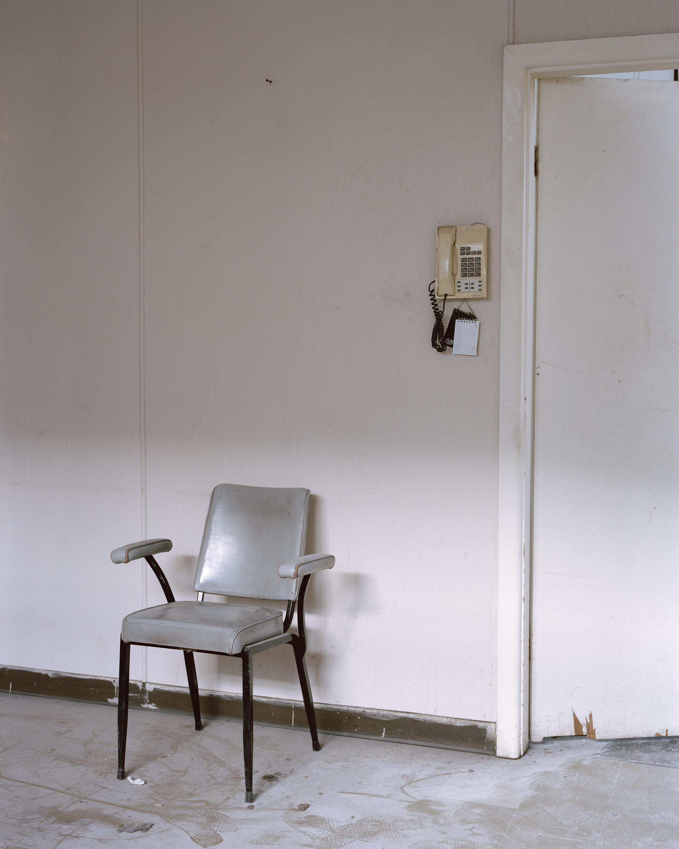 Interior with chair and telephone, Marrickville, Sydney, New South Wales, Australia, 2015.
