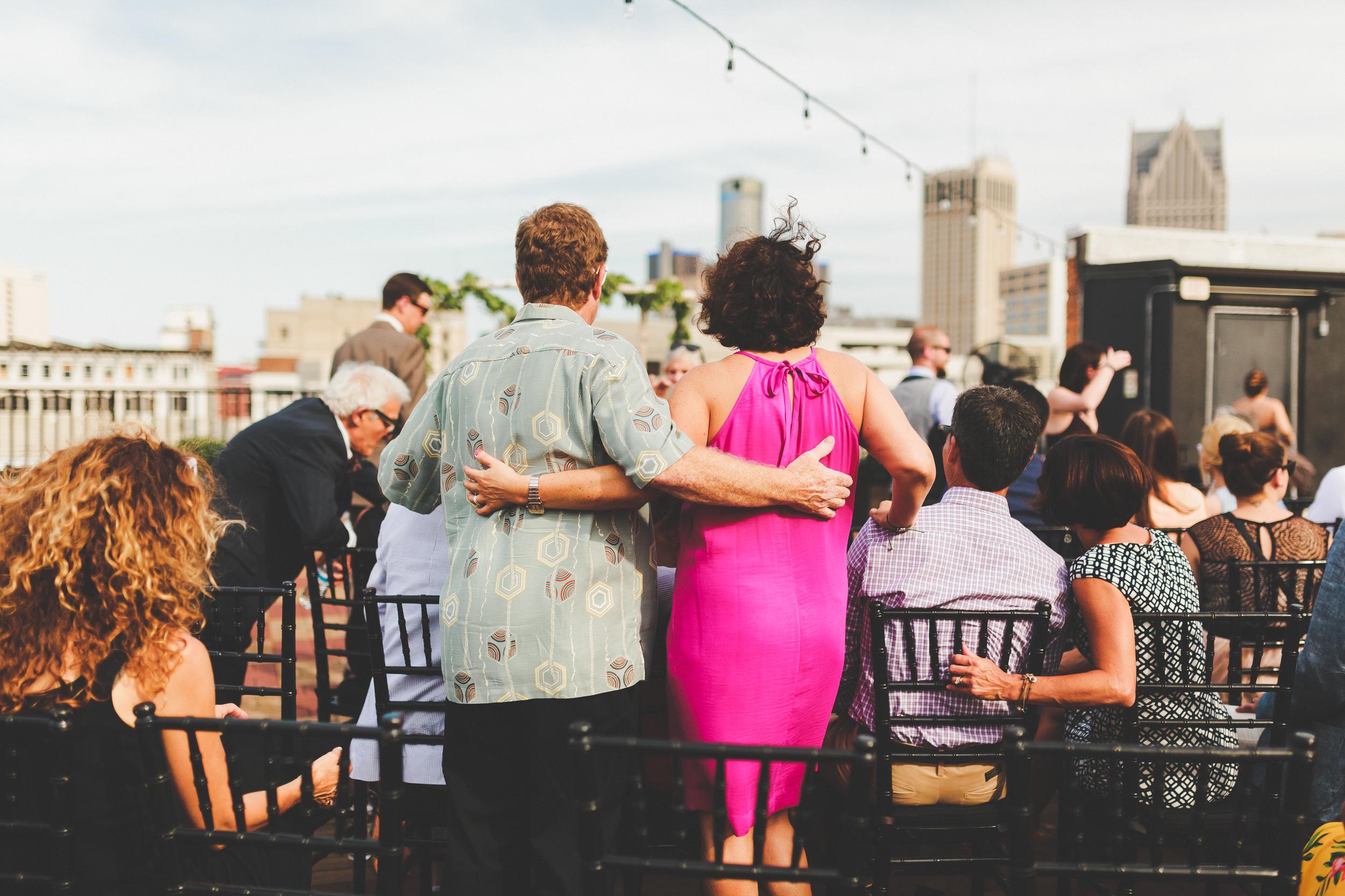 Greg Kristin Detroit Opera House Rooftop Wedding