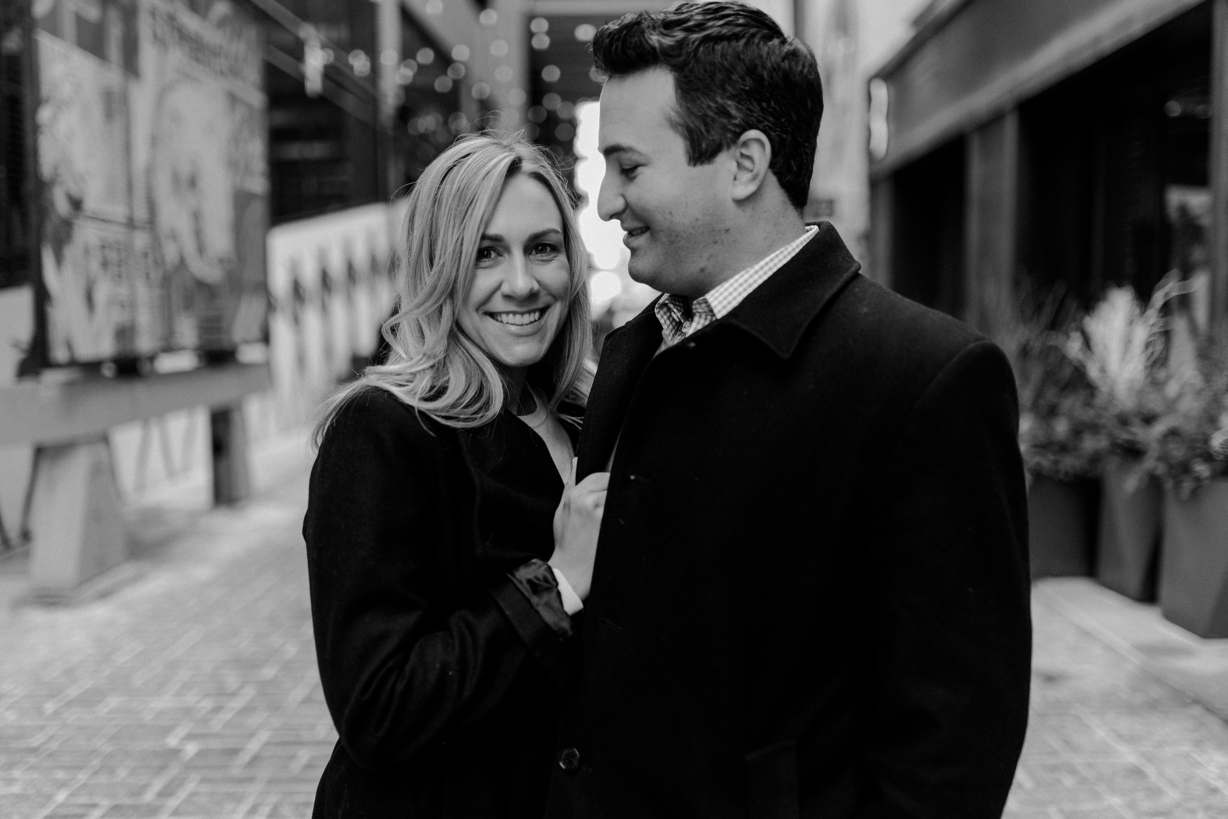 TOM + MEGAN - These two together is just the sweetest thing. We got super lucky with a warm day this past winter for Tom and Megan's engagement session downtown. We hit up all the good spots around the city. I can't wait to capture their wedding day this October!