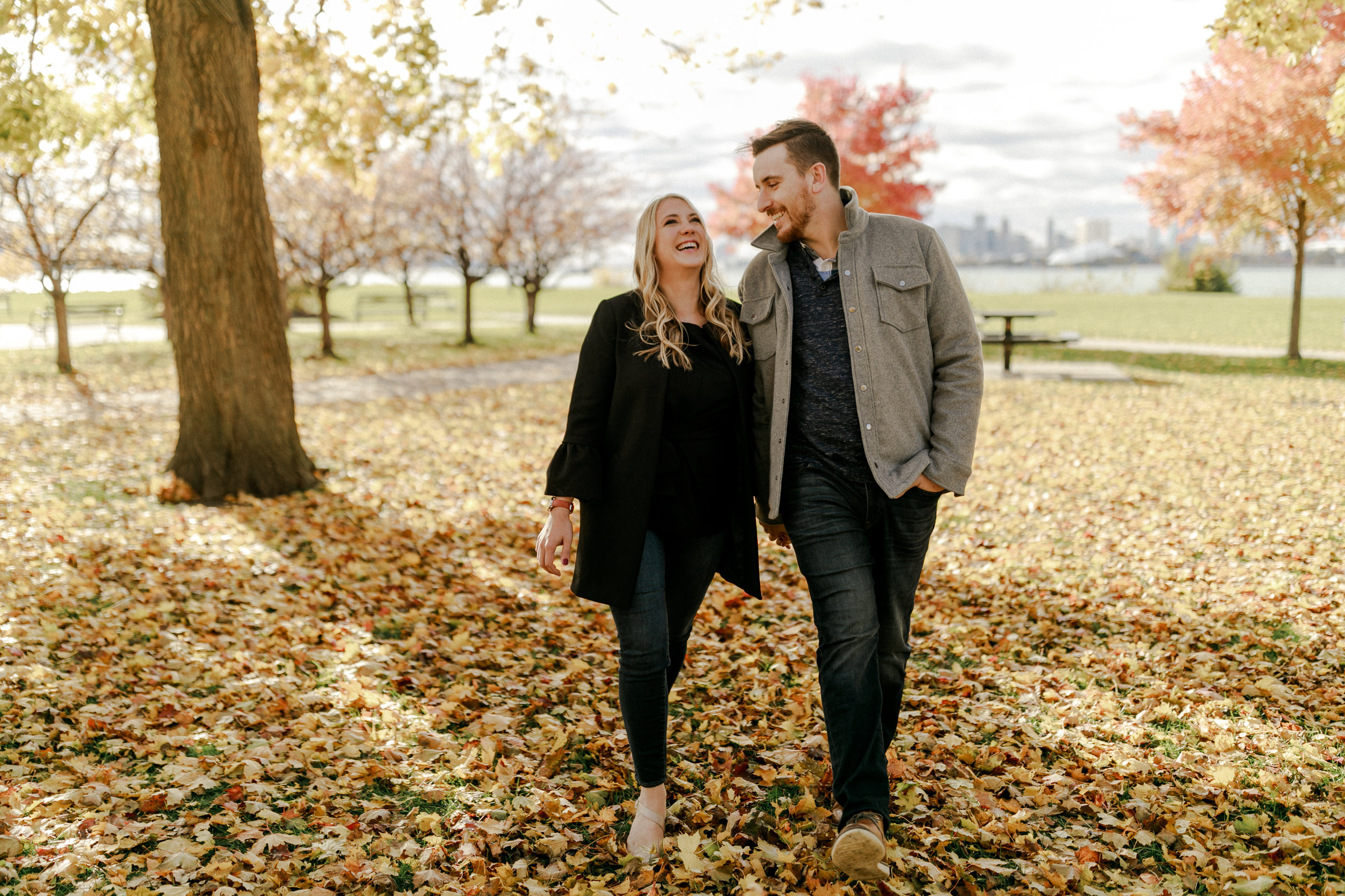 andrew + bridget - Look at these fall colors!!! This was one of my favorite engagement sessions from last year. These two rocked a super windy and very muddy day (thanks for ruining your shoes for the sake of love, guys!) I can not wait for their wedding in August!