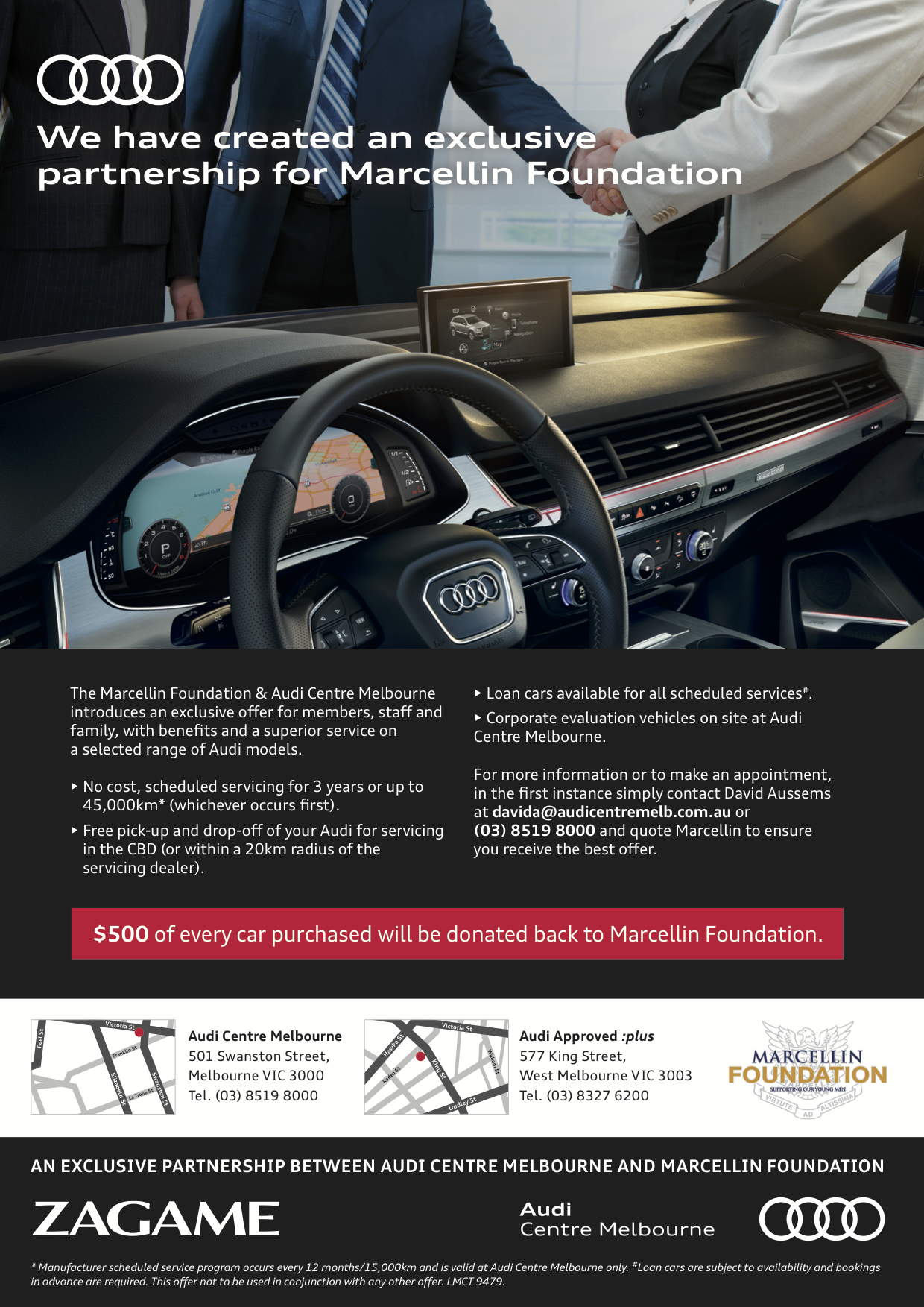 Marcellin Foundation exclusive offer from Audi Centre Melbourne.png