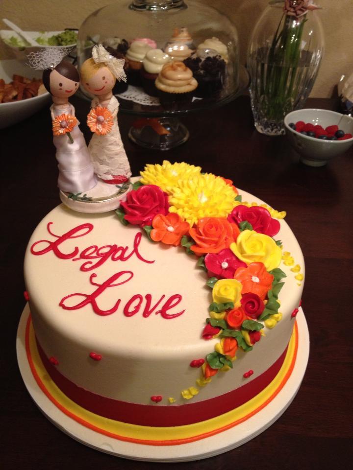 """Legal Love"" cake by Rossmoor Pasteries"
