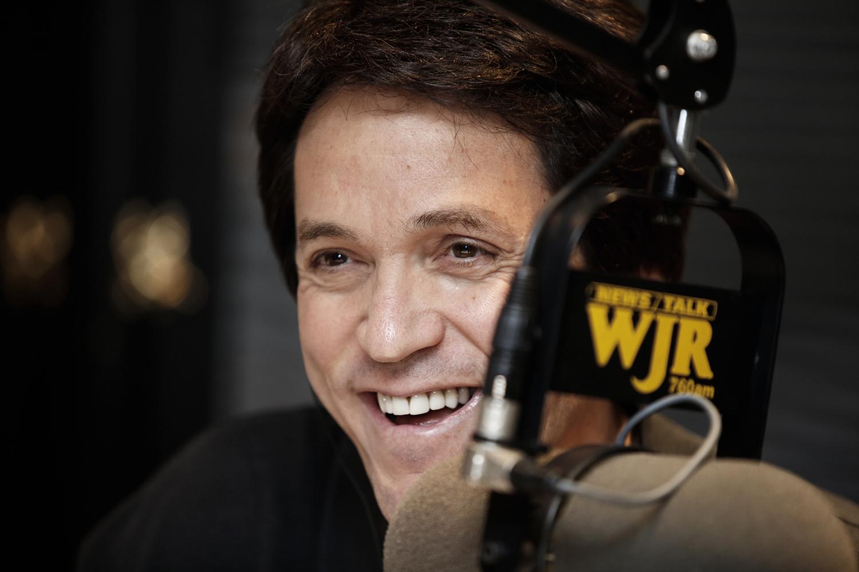 Mitch Albom takes the airwaves during his show on Tuesday, November 5, 2013 at News/Talk 760 WJR Radio in Detroit, MI.
