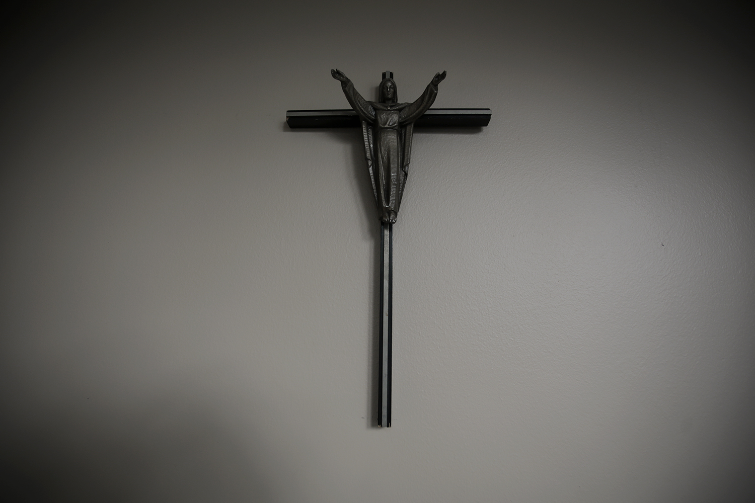 A crucifix hangs on the wall of the entryway on Thursday, Sept. 4, 2014 at the Eastern Catholic Re-Evangelization Center in Bloomfield Township, MI. Tim Galloway for the New York Times