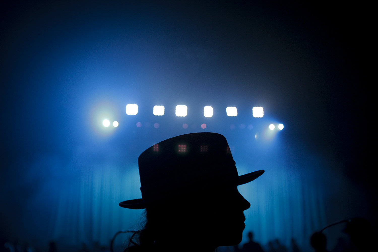 Gigi Pedron from Los Angeles, CA waits for Jack White to take the stage at his concert on Monday, July 28, 2014 at the Fox Theater in Detroit. Tim Galloway/Special to DFP
