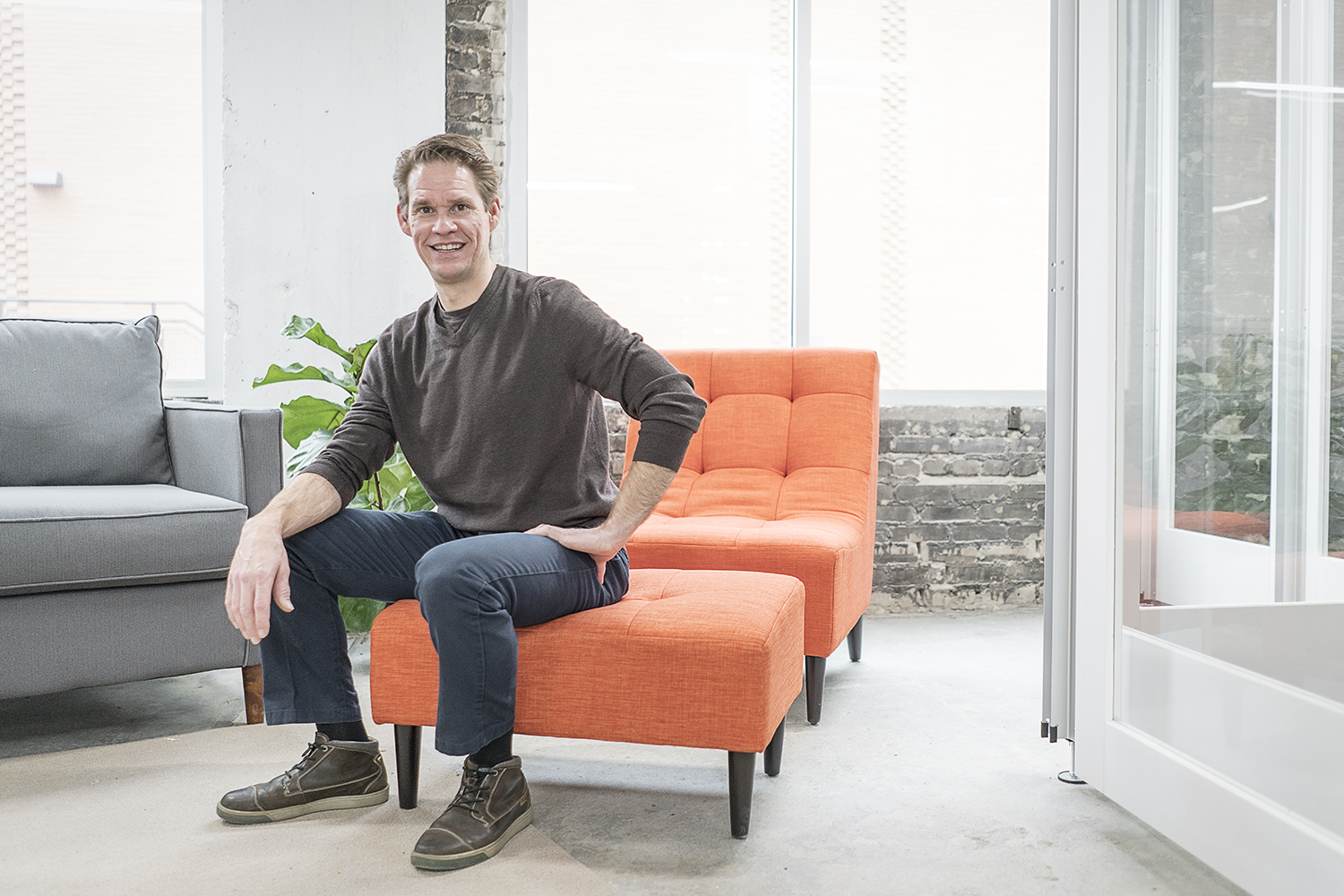 Flint, MI - Friday, December 22, 2017: David Ollila, 47, of Linden, is the President and Chief Innovation Officer for Skypoint Ventures and oversees operations at 100k Ideas.Tim Galloway for FlintSide