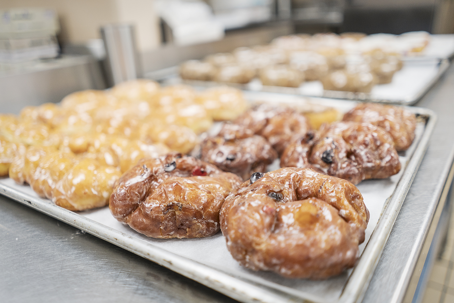 Flint, MI - Thursday, January 4, 2018: Fresh donuts await to be delivered by Blueline Donuts at Carriage Town Ministries.Tim Galloway for FlintSide