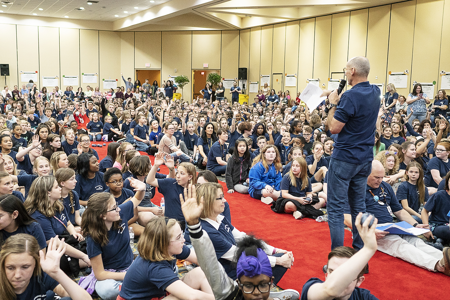 Flint, MI - Friday, May 4, 2018: Blueberry Founder and Fenton Twp. resident Phil Shaltz (69) speaks to the Blueberry Ambassadors during the 5th Annual Blueberry Ambassador Awards Party at the Riverfront Banquet Center downtown.Tim Galloway for FlintSide