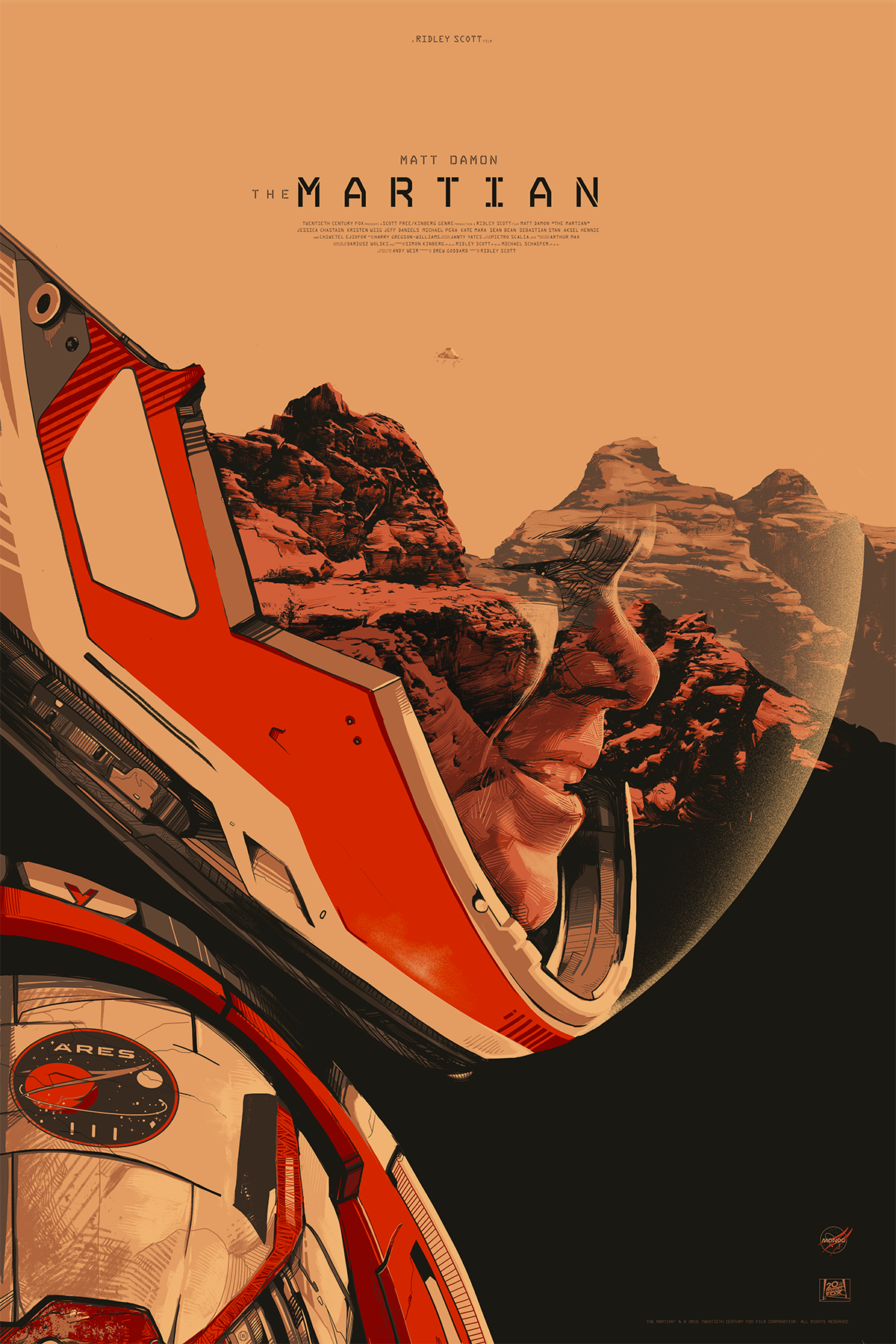 The Martian - Mondo / 20th Century FoxLimited edition, screen-printed film poster.