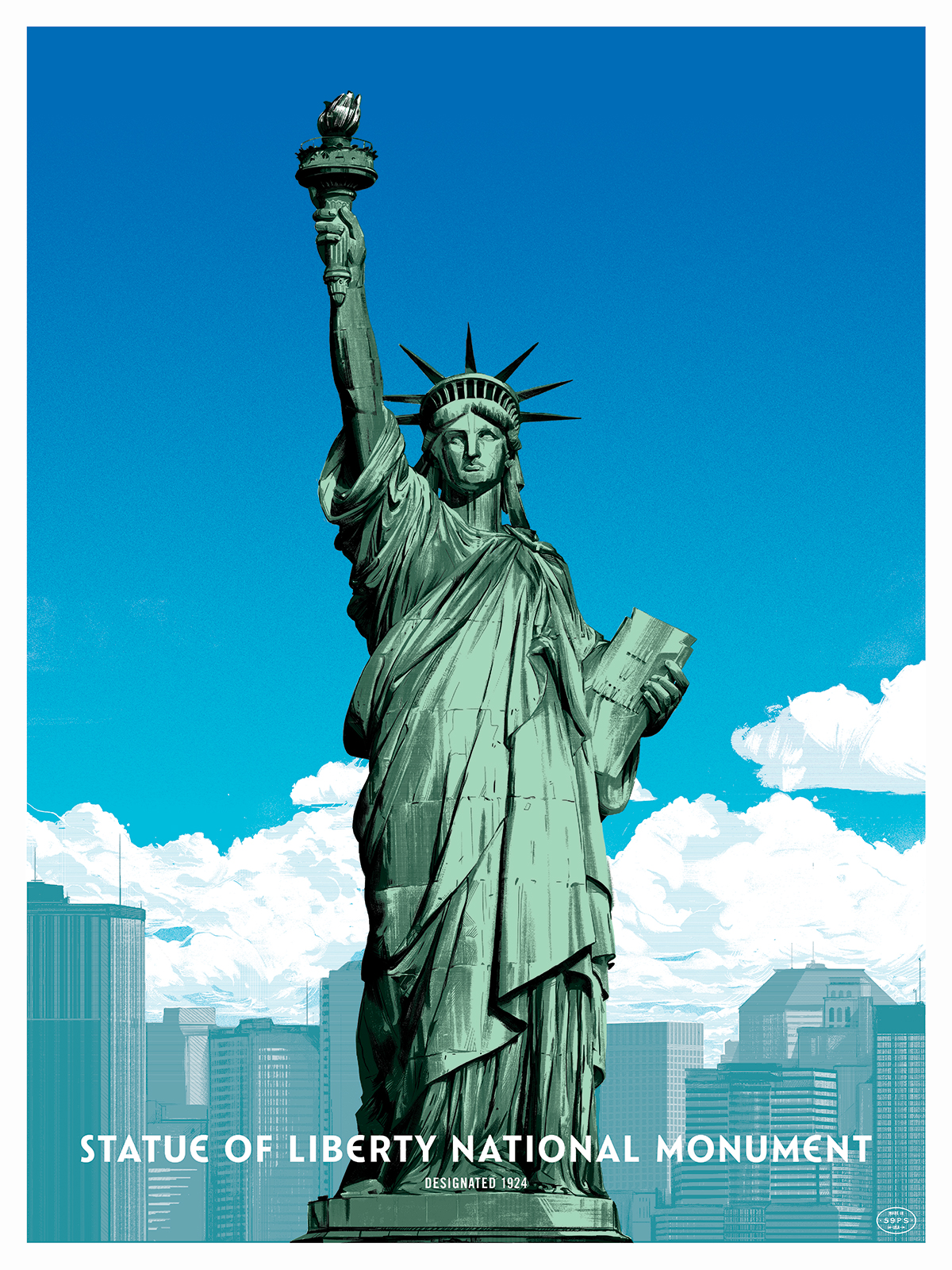 THE STATUE OF LIBERTY - Limited edition, screen-printed poster.Available in the shop