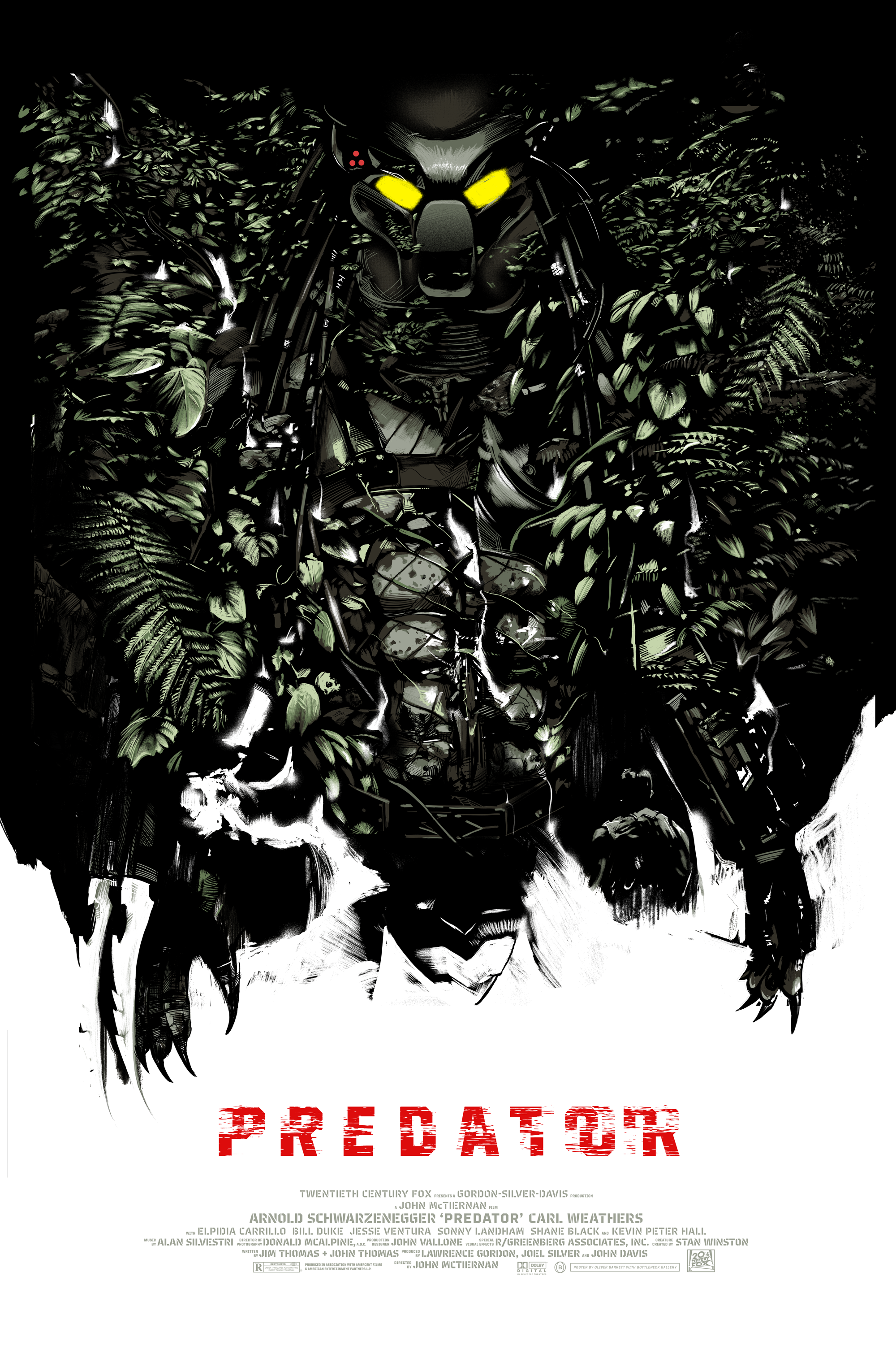 PREDATOR  - Bottleneck GalleryLimited edition, screen-printed film poster.Available in the shop