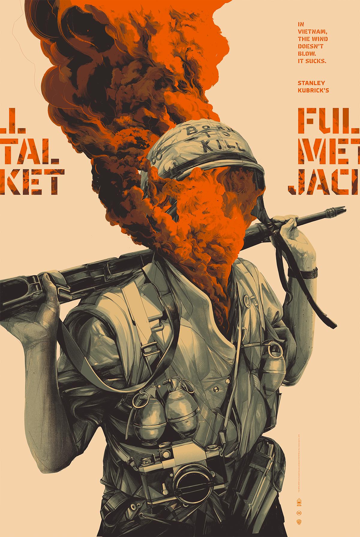 FULL METAL JACKET - Mondo / Warner Bros.Limited edition, screen-printed film poster.
