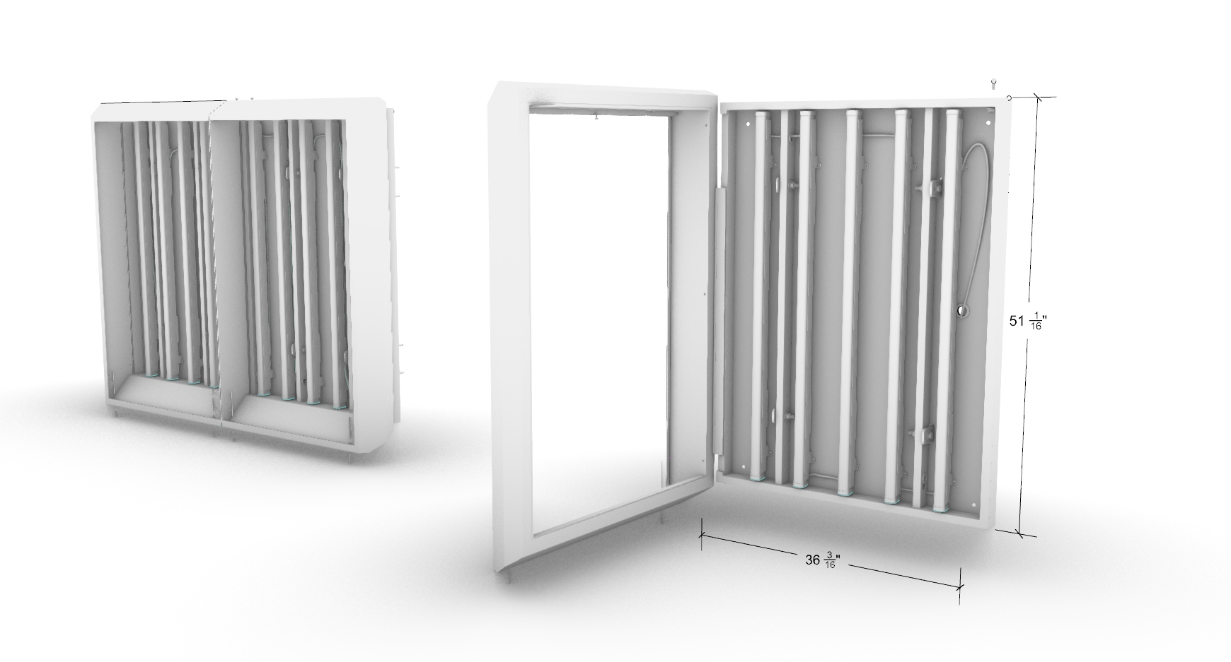 CAD Model of single and double-wide panels