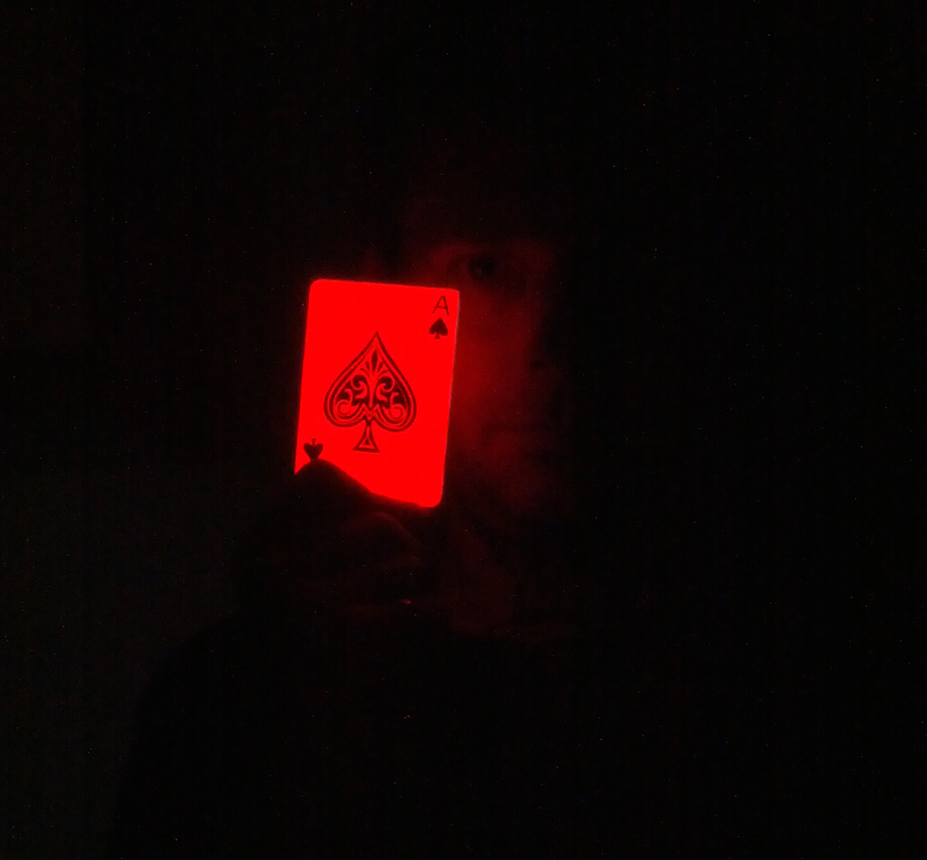 Glowing Card in the Dark