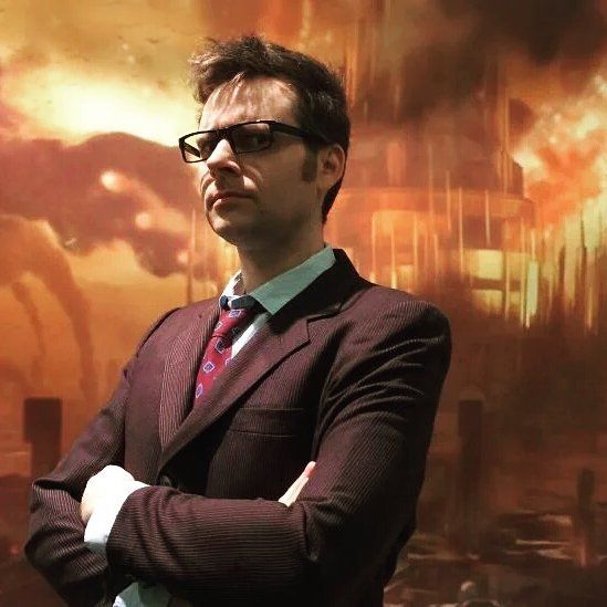 I bear a passing resemblance to  David Tennant  which has made this my most popular costume.