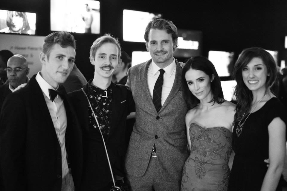 The actors Abigail Spencer & Josh Pence, with my good friends Whitney Justesen & Peter Jamus, the models in my winning image!