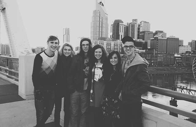 Pit stop in Nashville w/ our roadtrip crew & a new friend! (taken via  Rob's instagram )