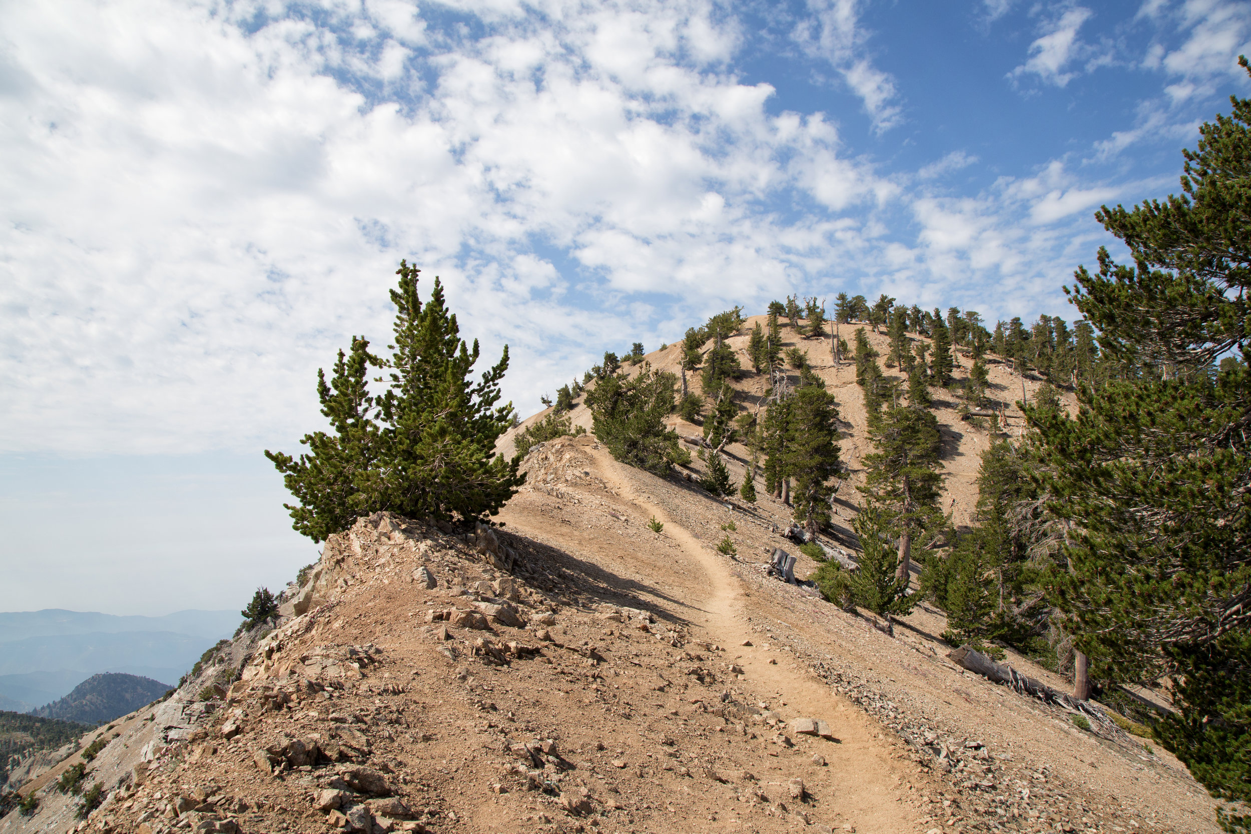 View as we started our trek across the ridge to the summit at 9,247 ft.