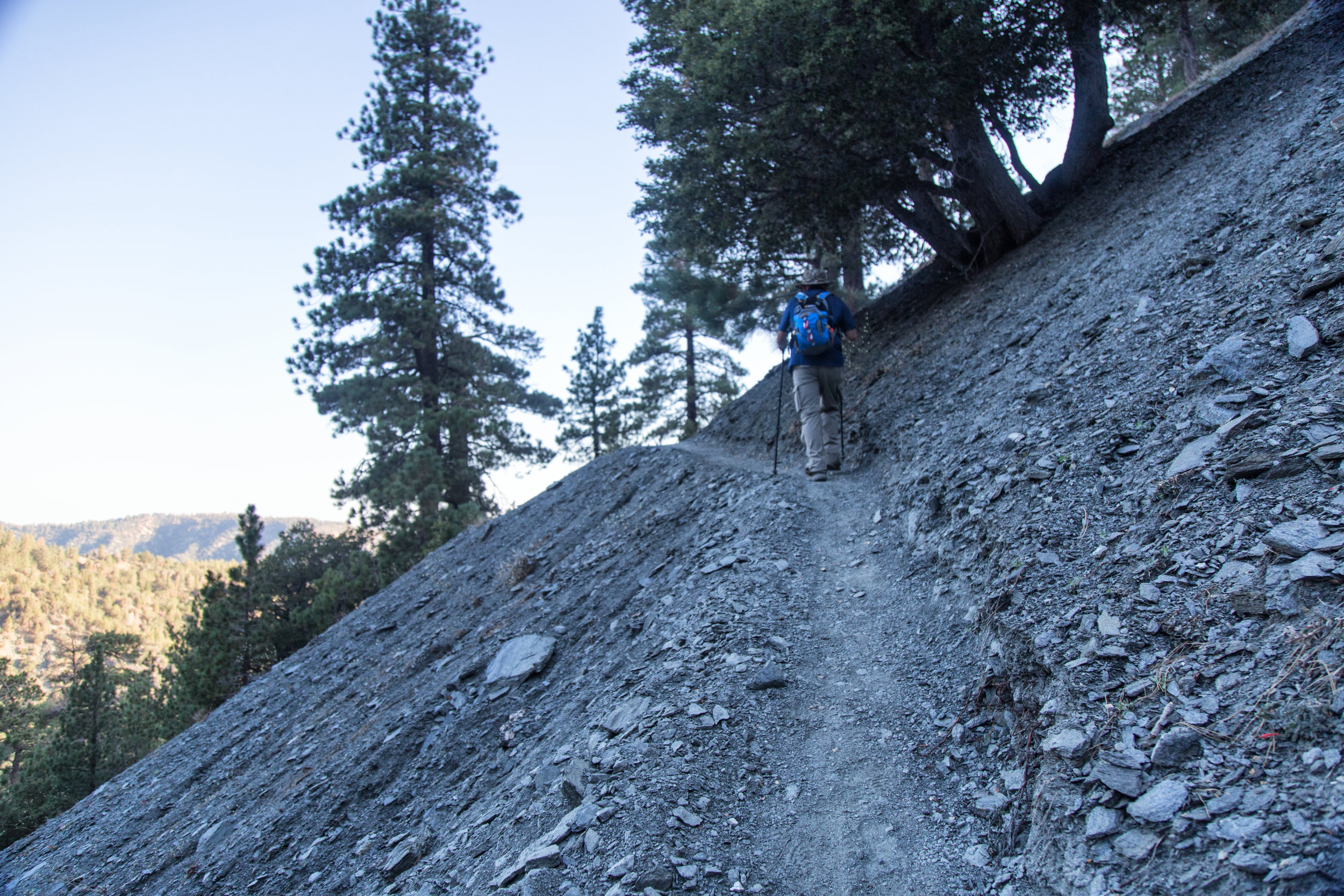 Some of the trail gets pretty steep with precipitous drop offs.