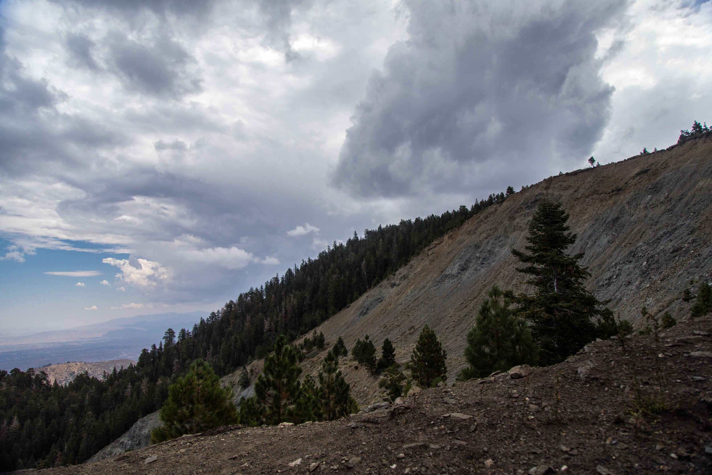 Storm clouds were starting to roll in. Time to head back down.