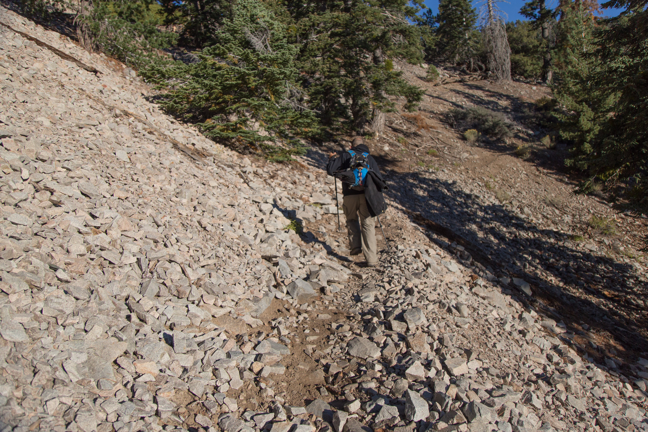 A few parts of the trail are on rock so you need to be a little careful.