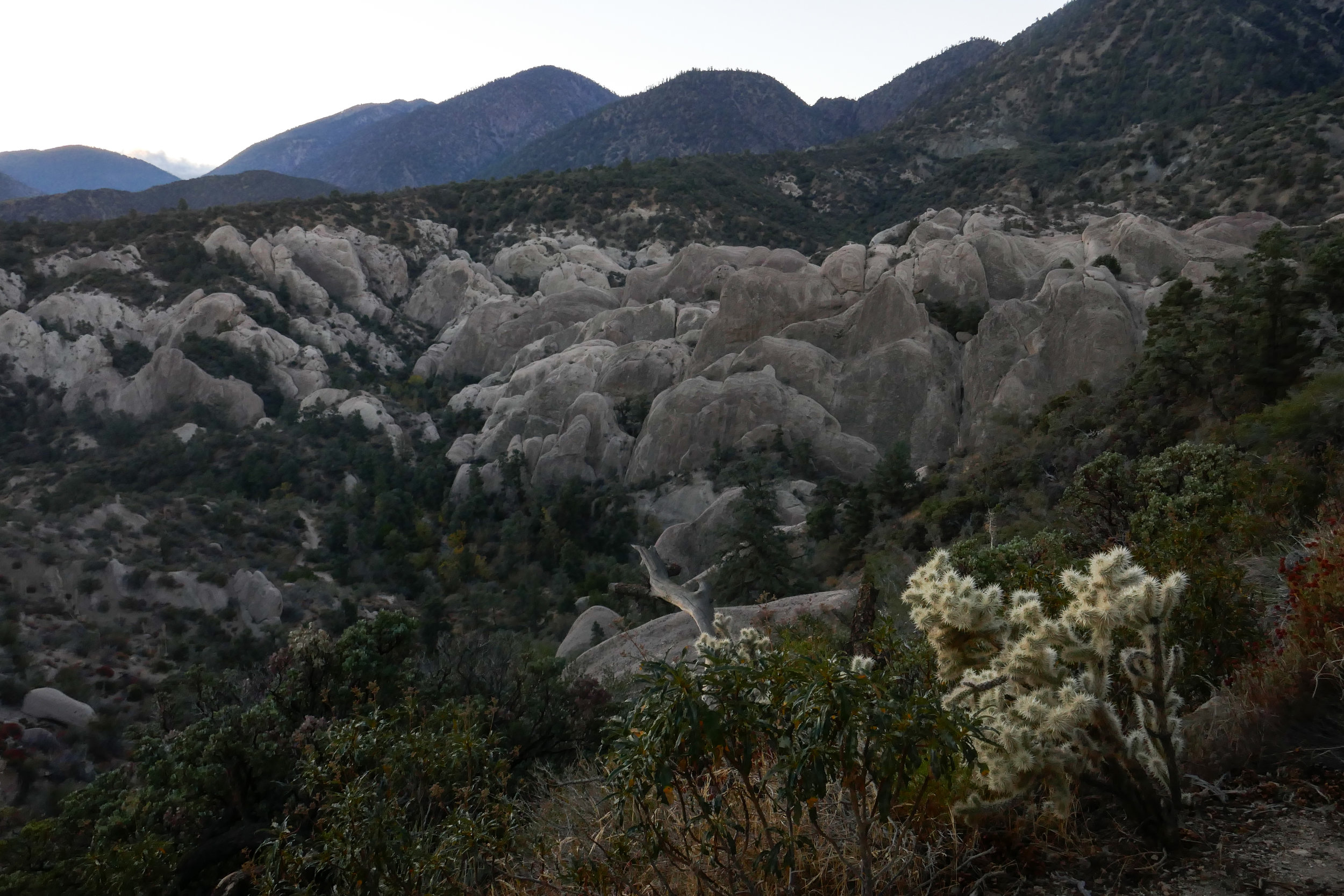 My first look at the punchbowl from just before the trailhead.
