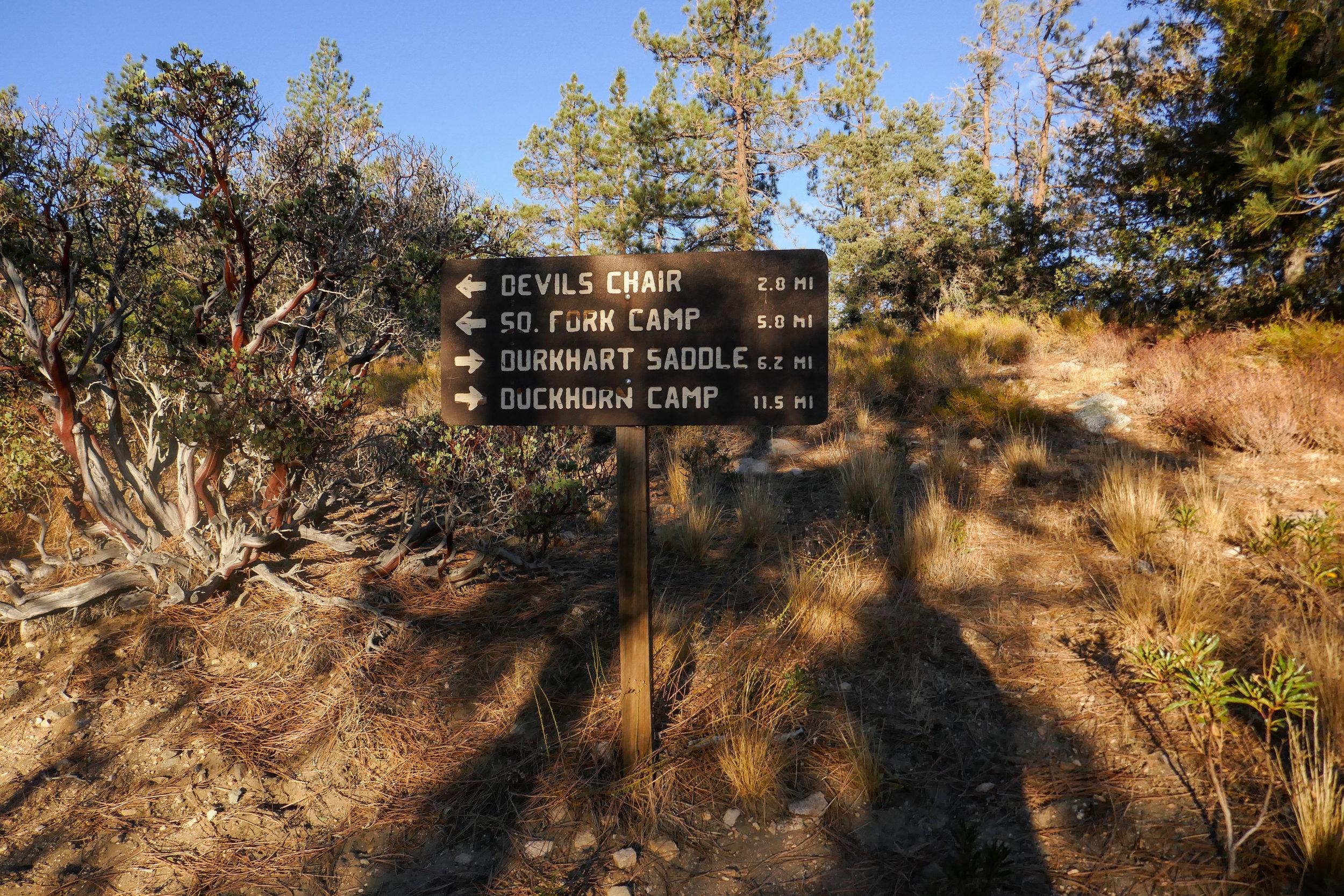 Now leaving the Burkhart trail and heading onto the Devil's Chair Trail, aka High Desert National Recreation Trail.