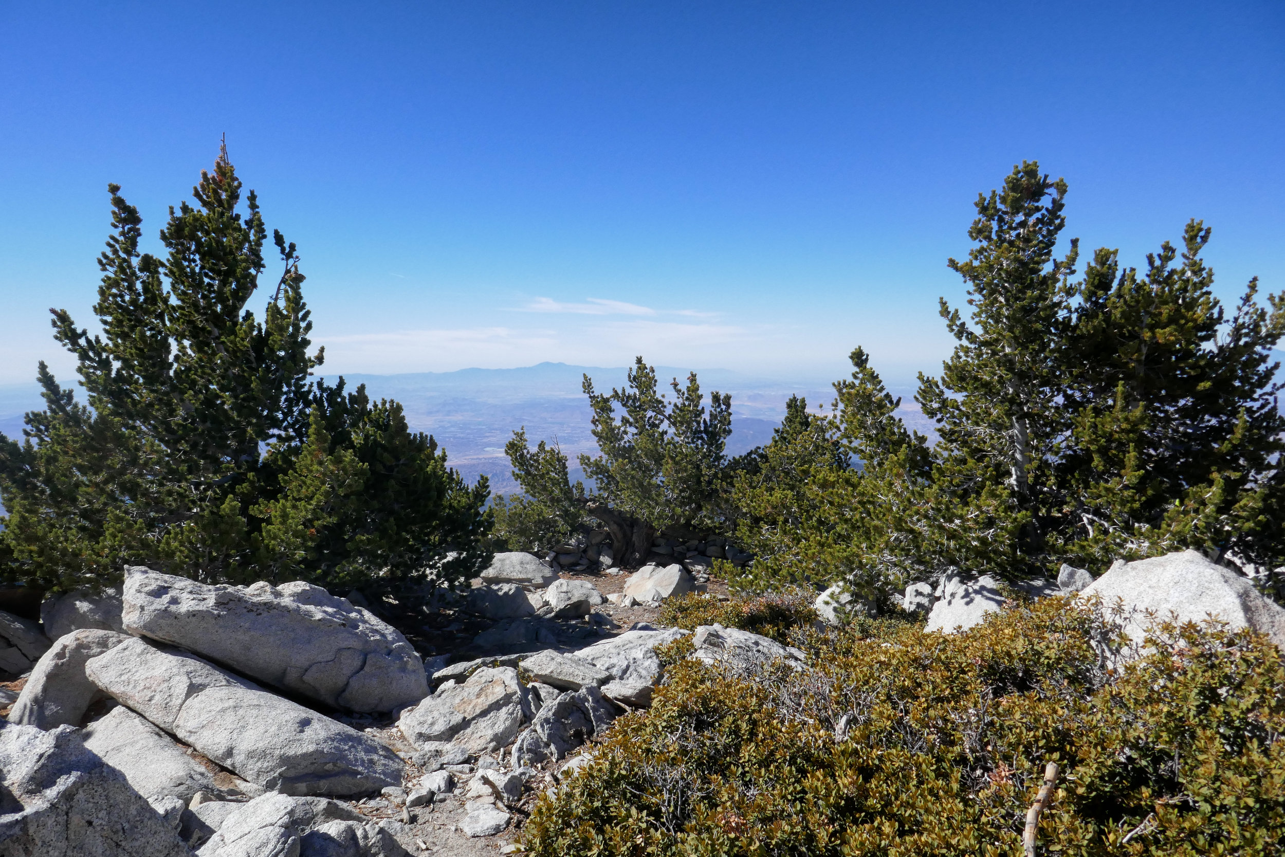 View from the top of Mount San Jacinto.