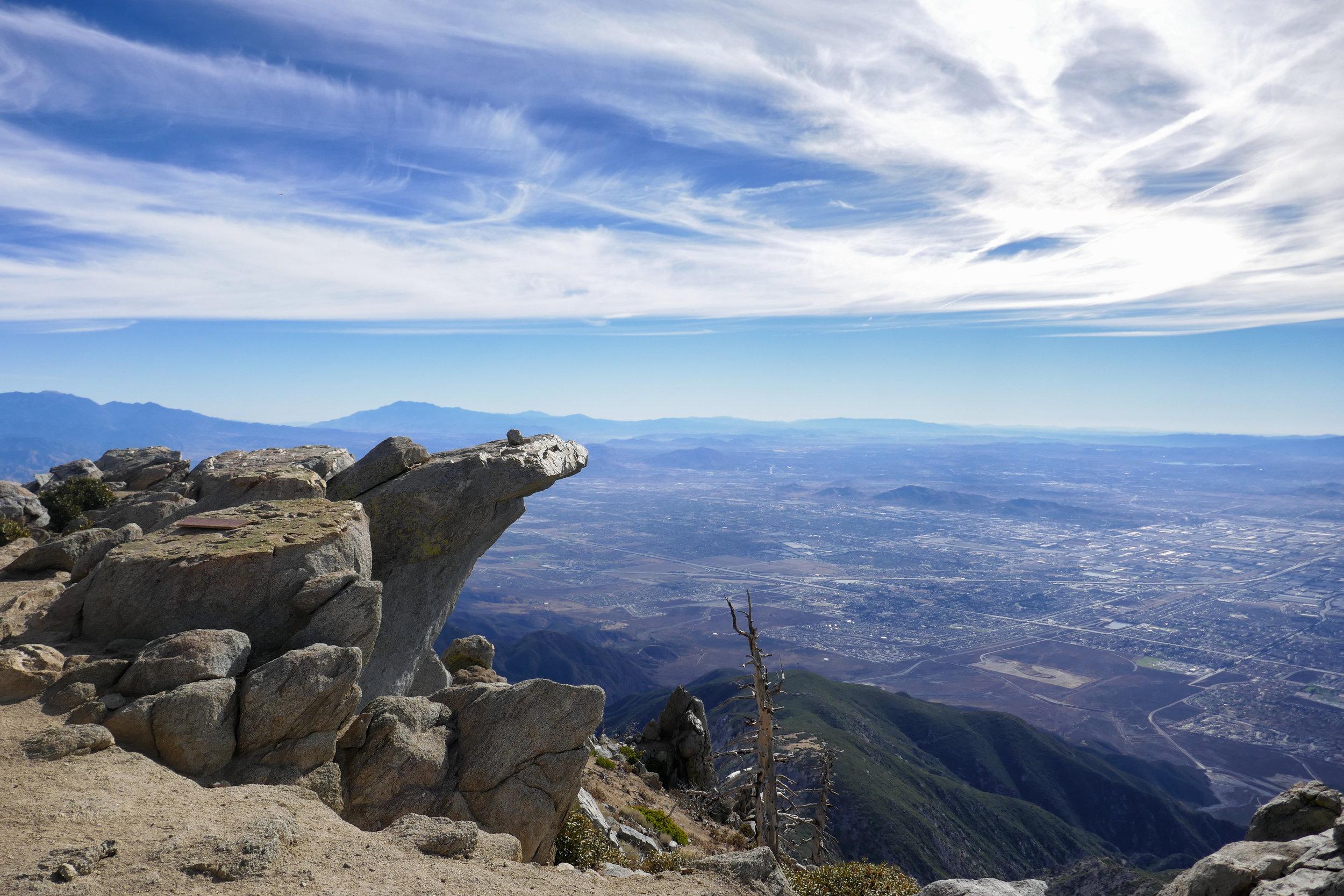 Views from Cucamonga Peak.