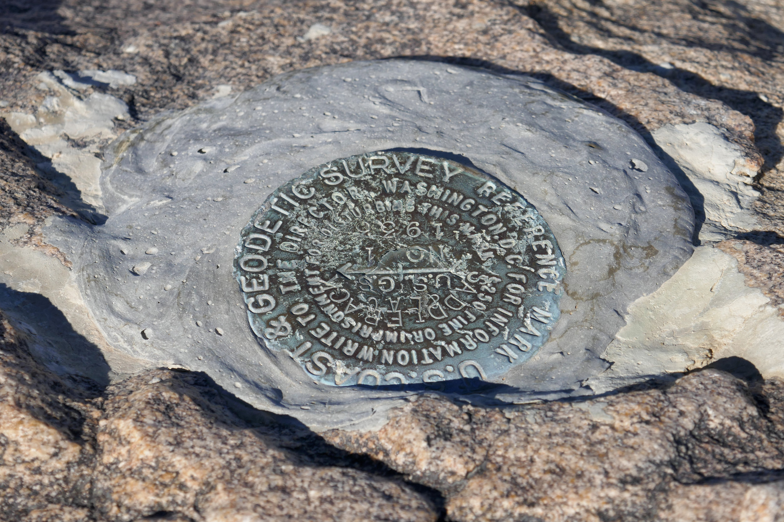 The second USGS marker.