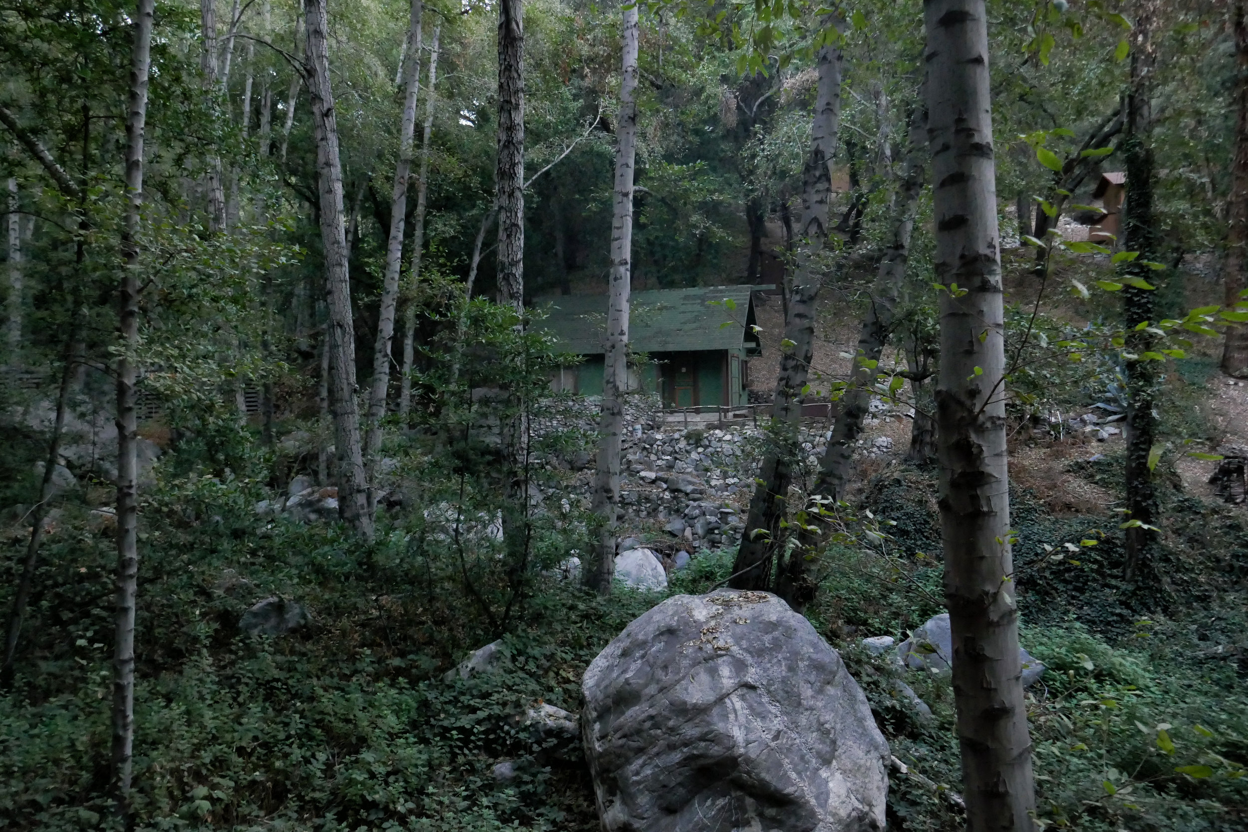 Beautiful historic cabins along the creek.