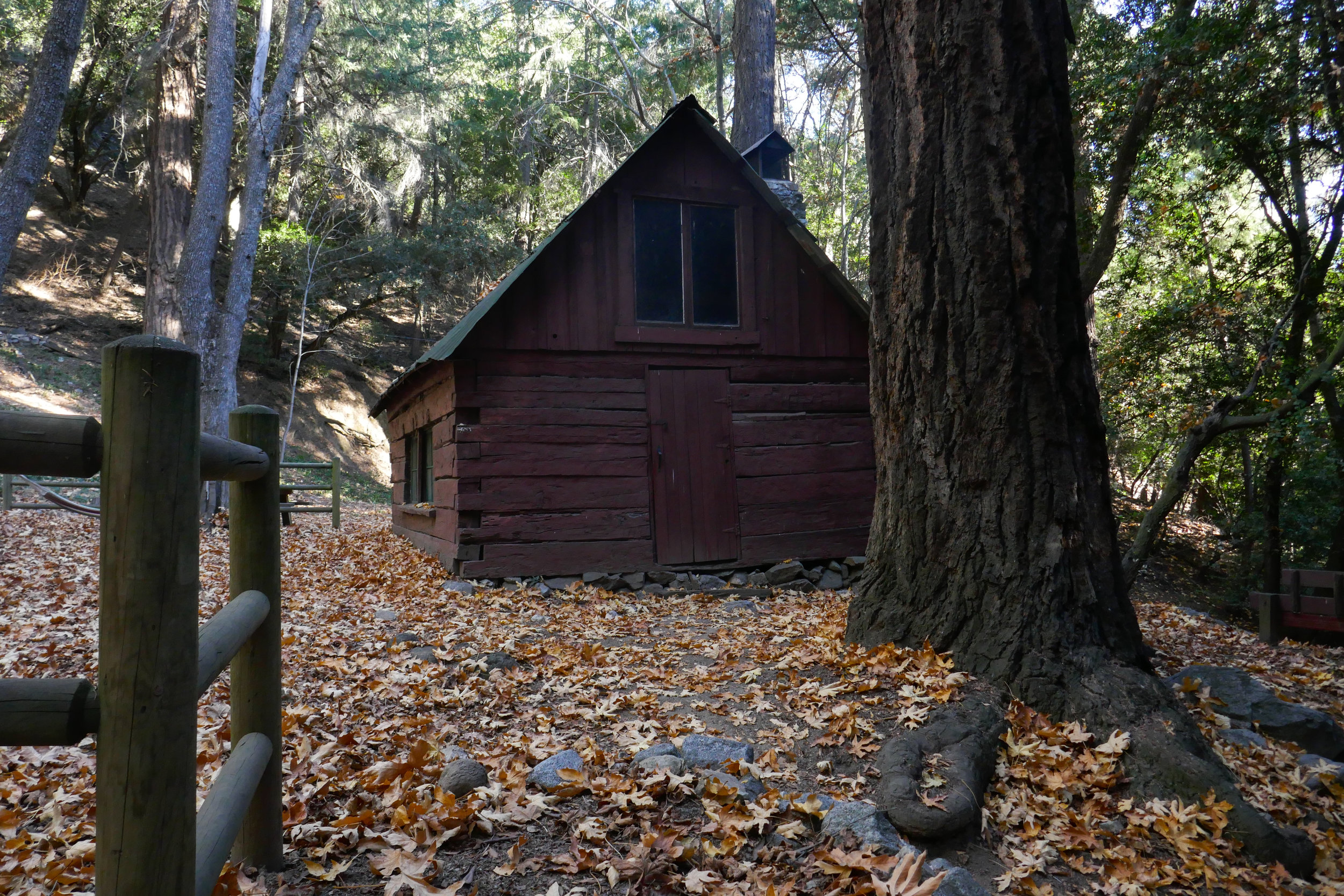 Ranger Station. The oldest building in Angeles National Forest still in its original place.