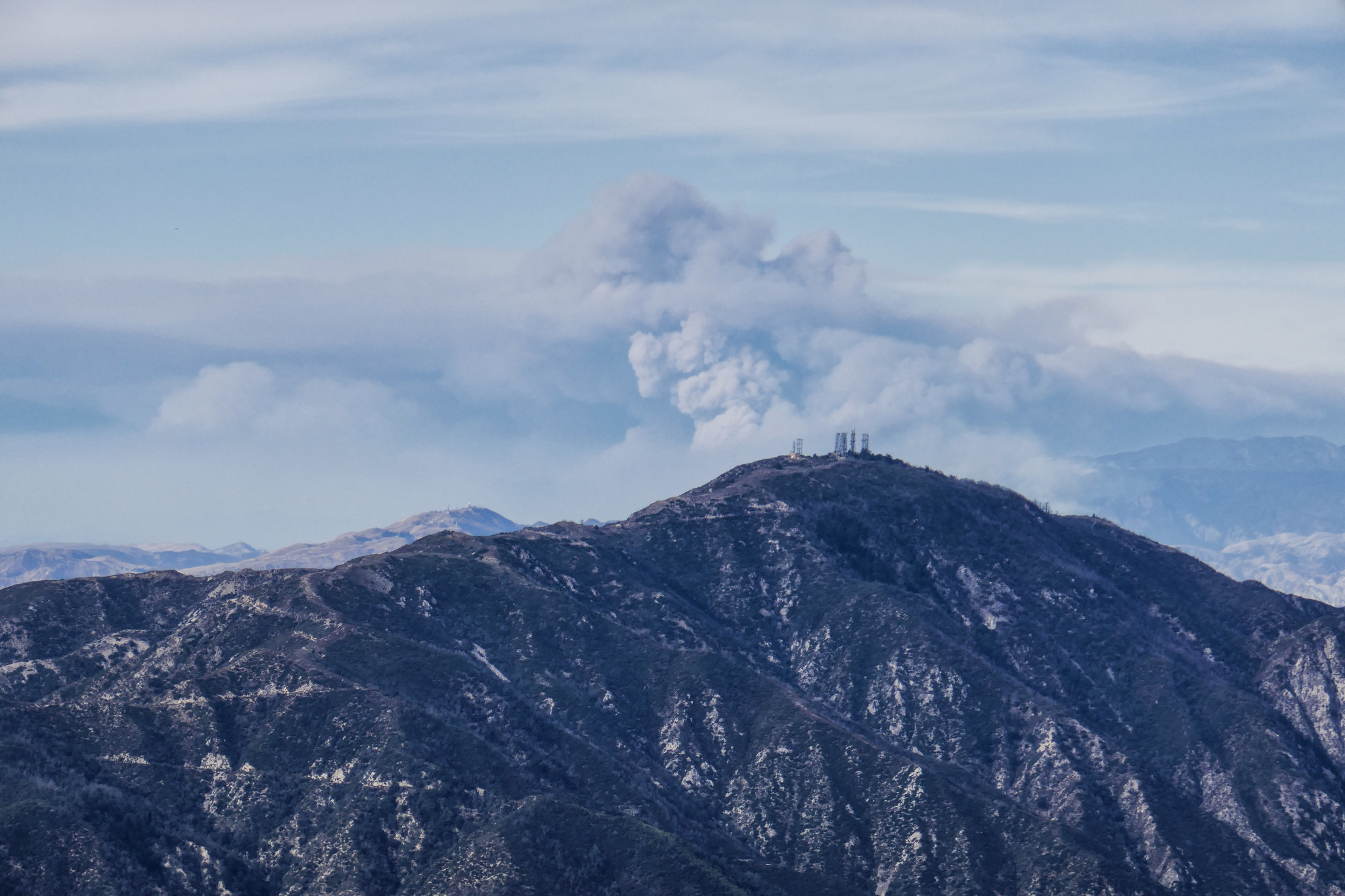 Smoke from the Thomas Fire.