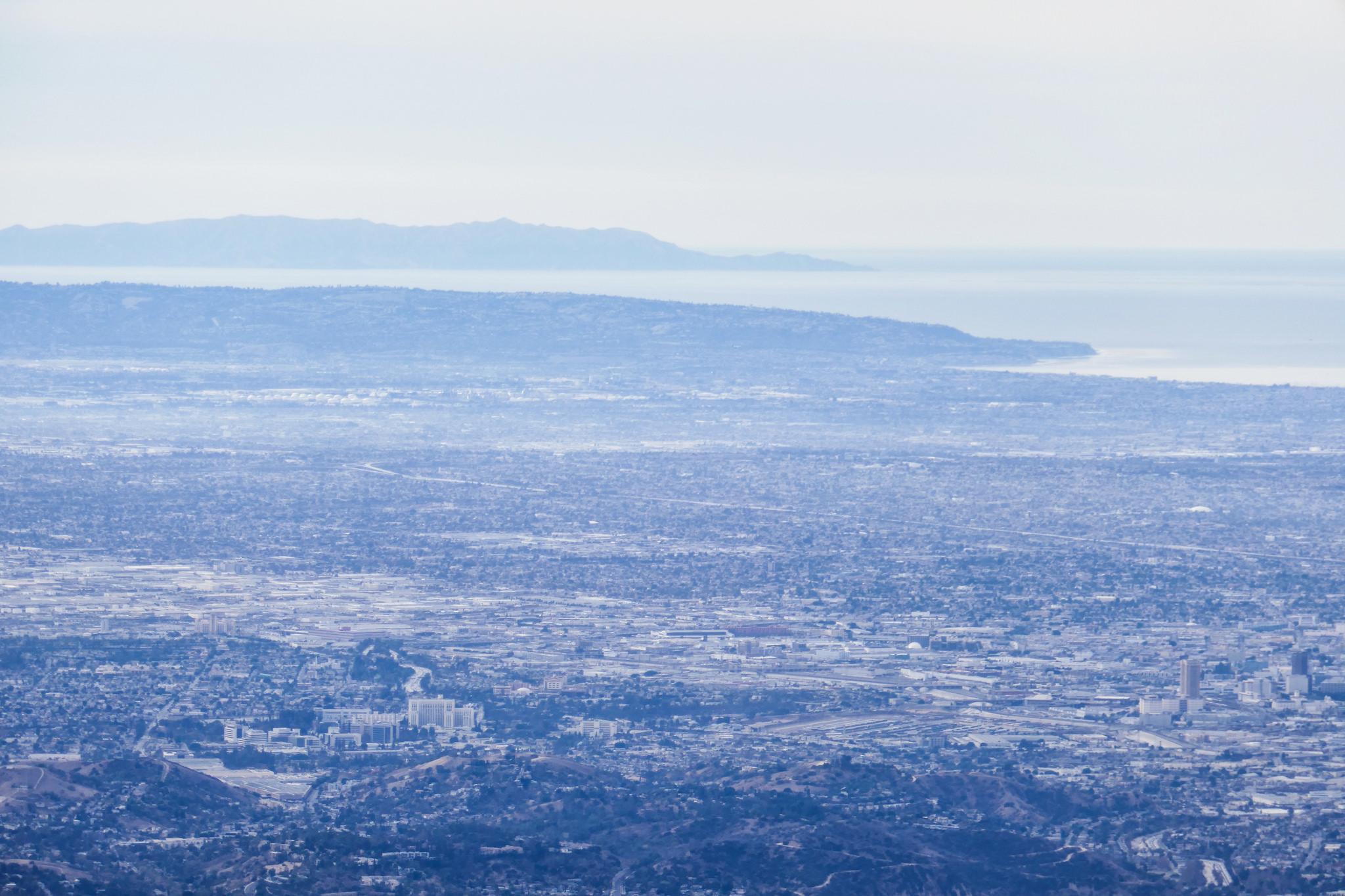 Catalina island is visible.
