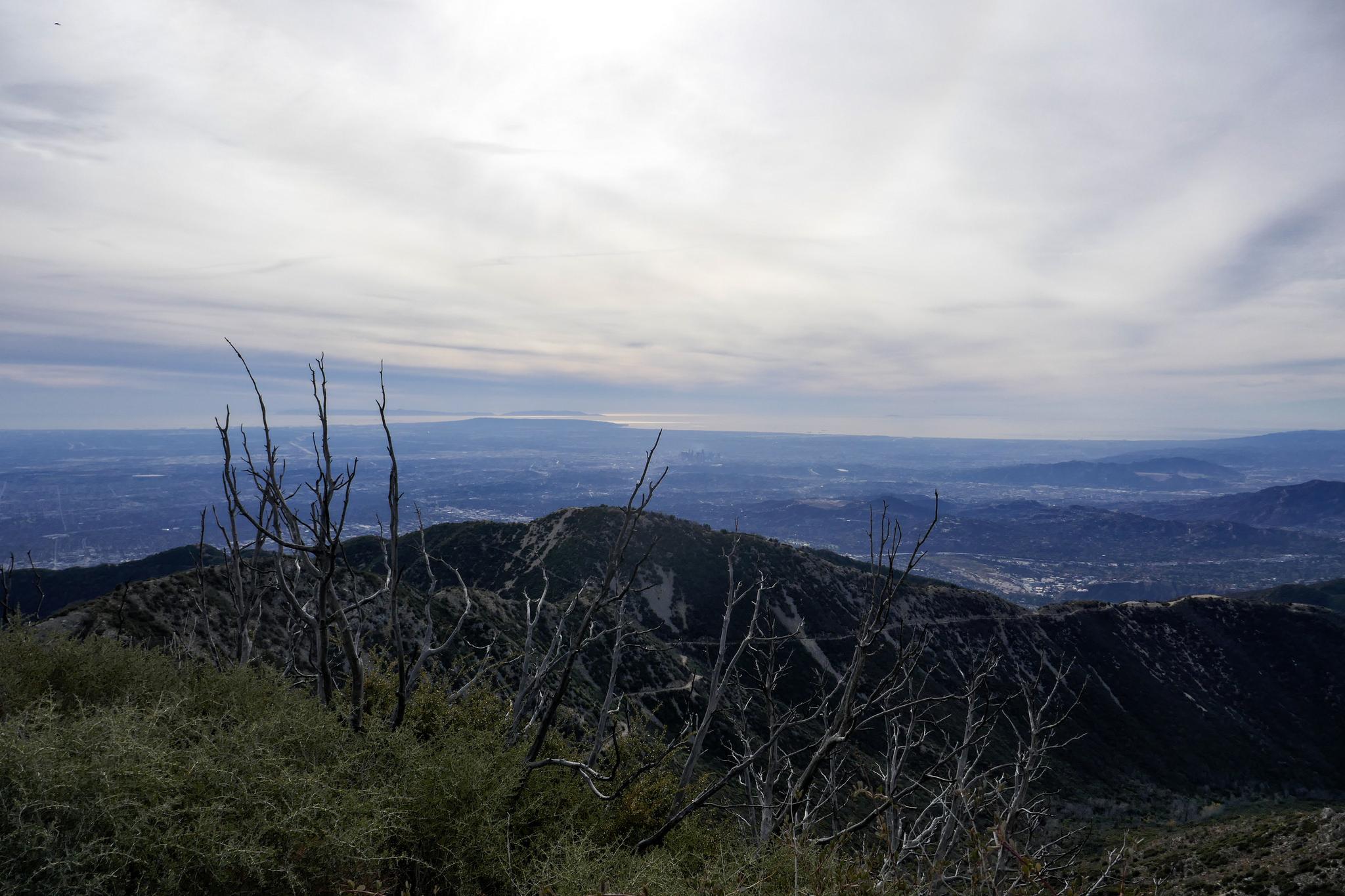 Views from San Gabriel Peak.